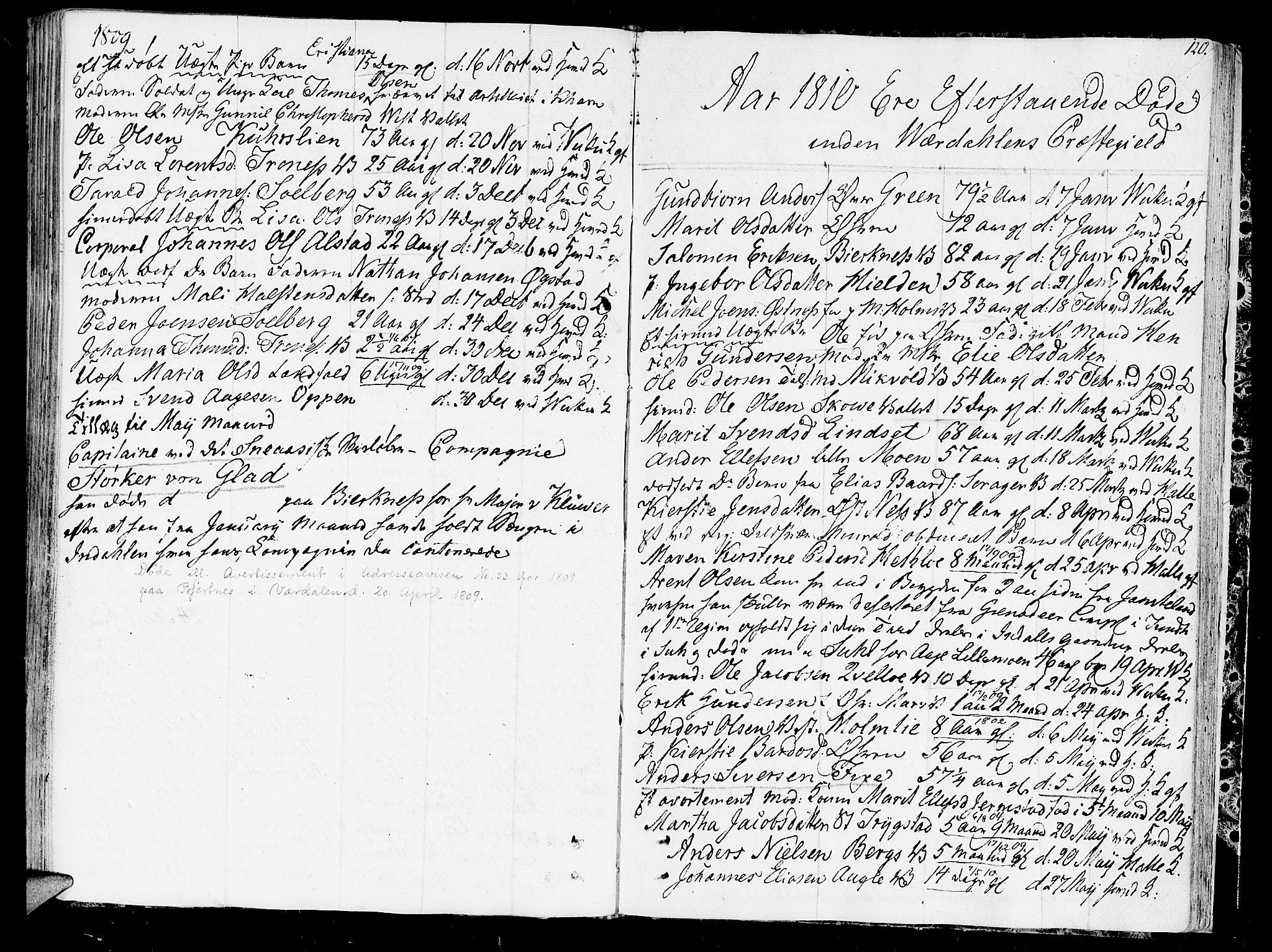 SAT, Ministerialprotokoller, klokkerbøker og fødselsregistre - Nord-Trøndelag, 723/L0233: Ministerialbok nr. 723A04, 1805-1816, s. 120