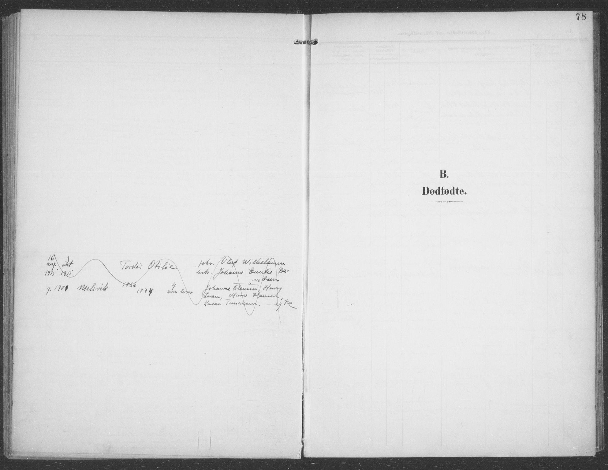 SATØ, Talvik sokneprestkontor, H/Ha/L0017kirke: Ministerialbok nr. 17, 1906-1915, s. 78
