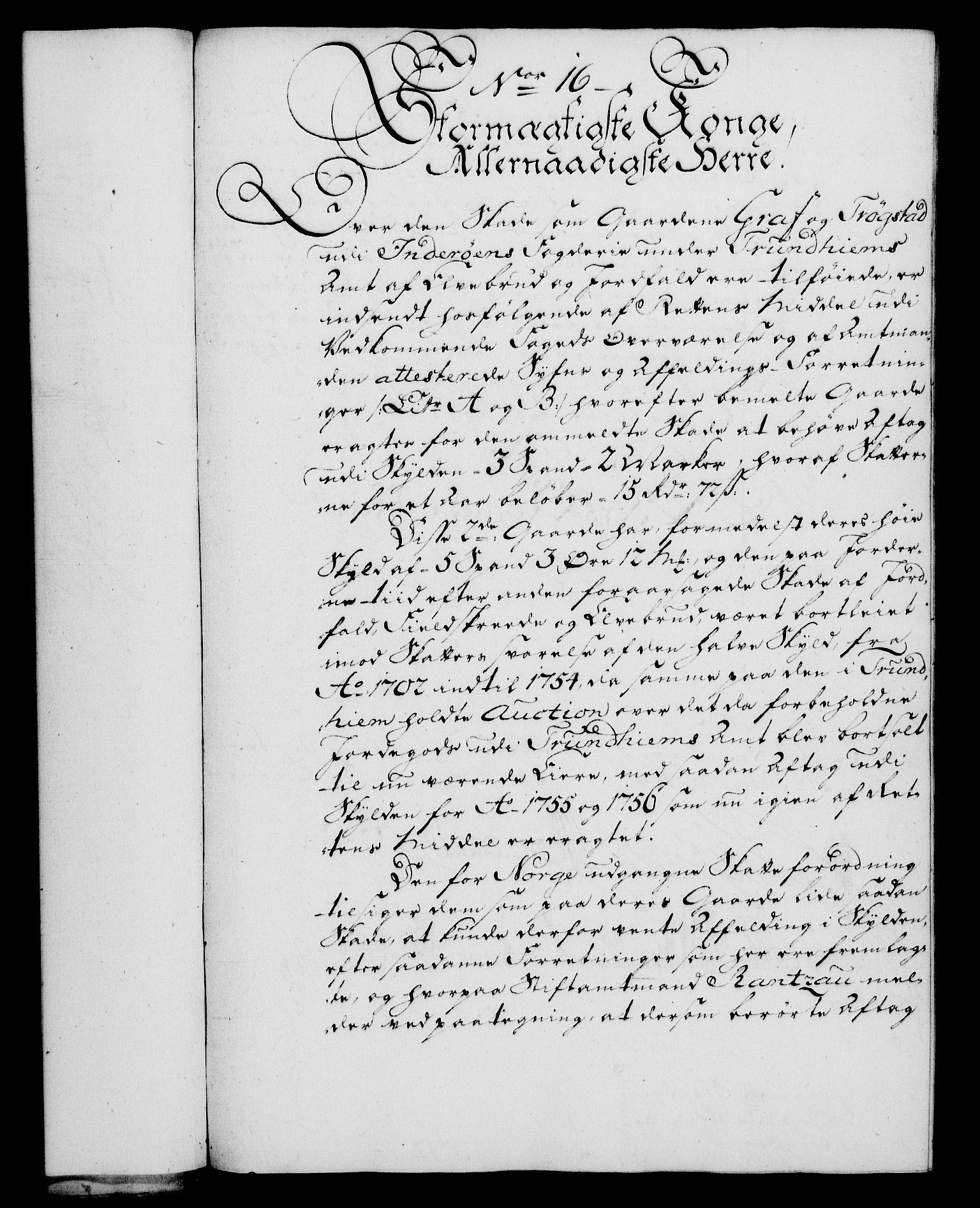RA, Rentekammeret, Kammerkanselliet, G/Gf/Gfa/L0046: Norsk relasjons- og resolusjonsprotokoll (merket RK 52.46), 1764, s. 73