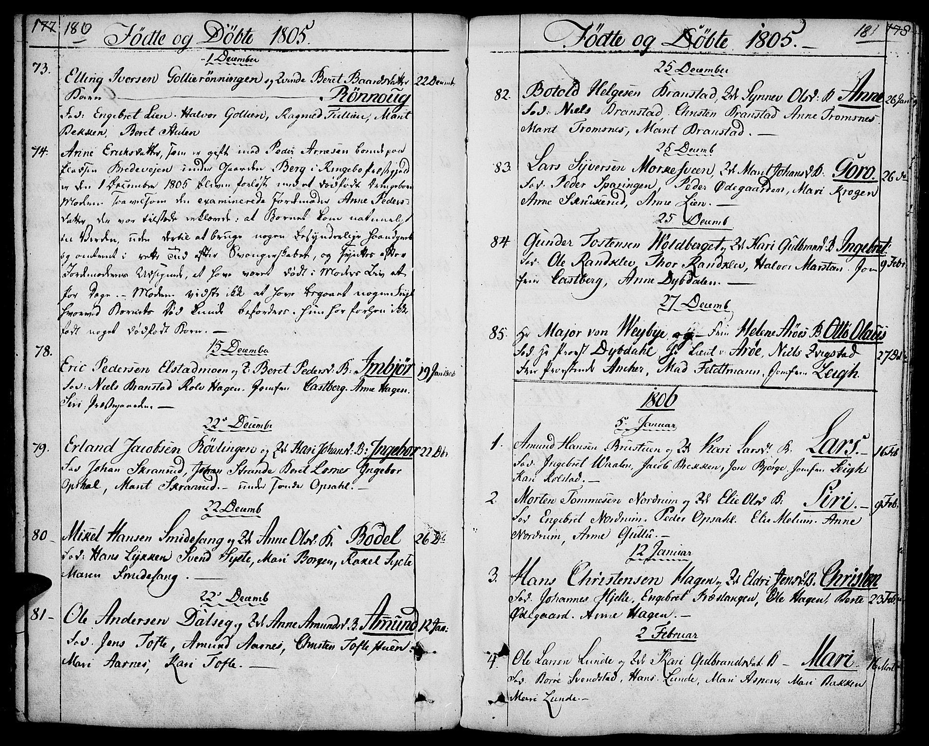 SAH, Ringebu prestekontor, Ministerialbok nr. 3, 1781-1820, s. 180-181