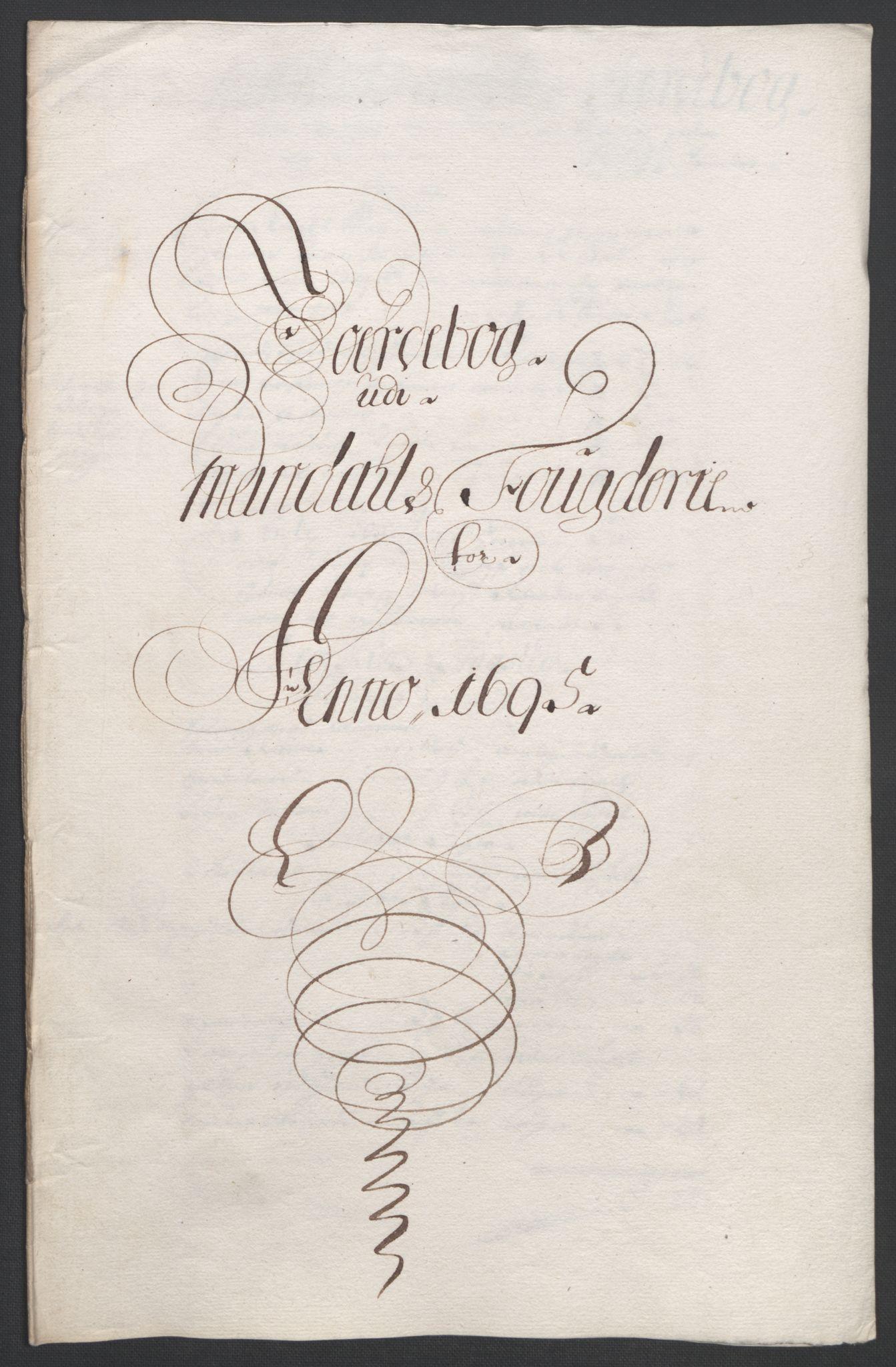 RA, Rentekammeret inntil 1814, Reviderte regnskaper, Fogderegnskap, R43/L2545: Fogderegnskap Lista og Mandal, 1694-1695, s. 245