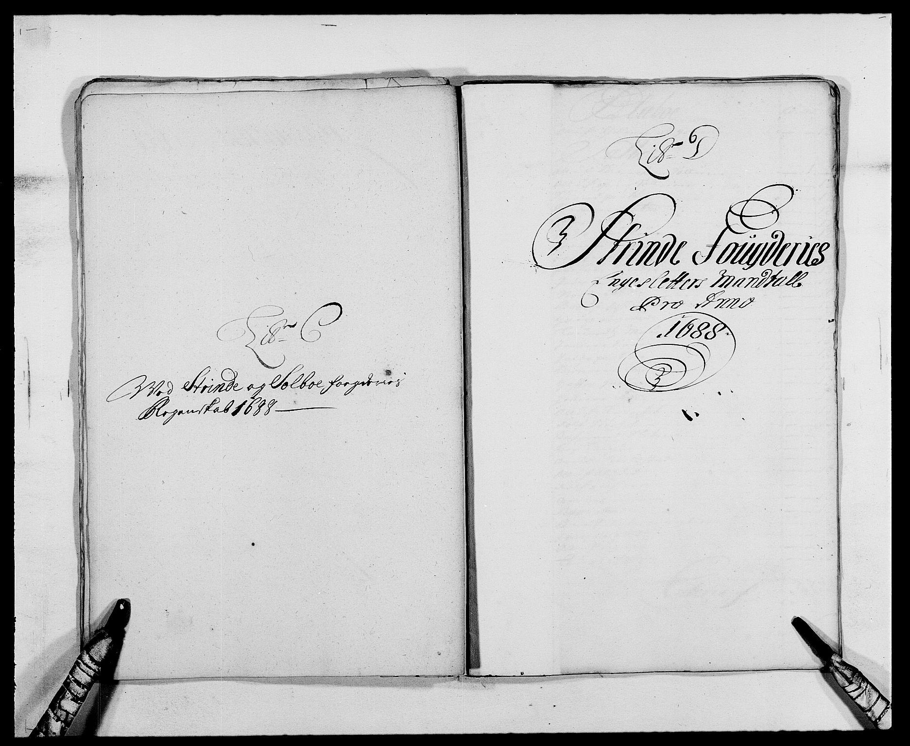 RA, Rentekammeret inntil 1814, Reviderte regnskaper, Fogderegnskap, R61/L4101: Fogderegnskap Strinda og Selbu, 1687-1688, s. 177