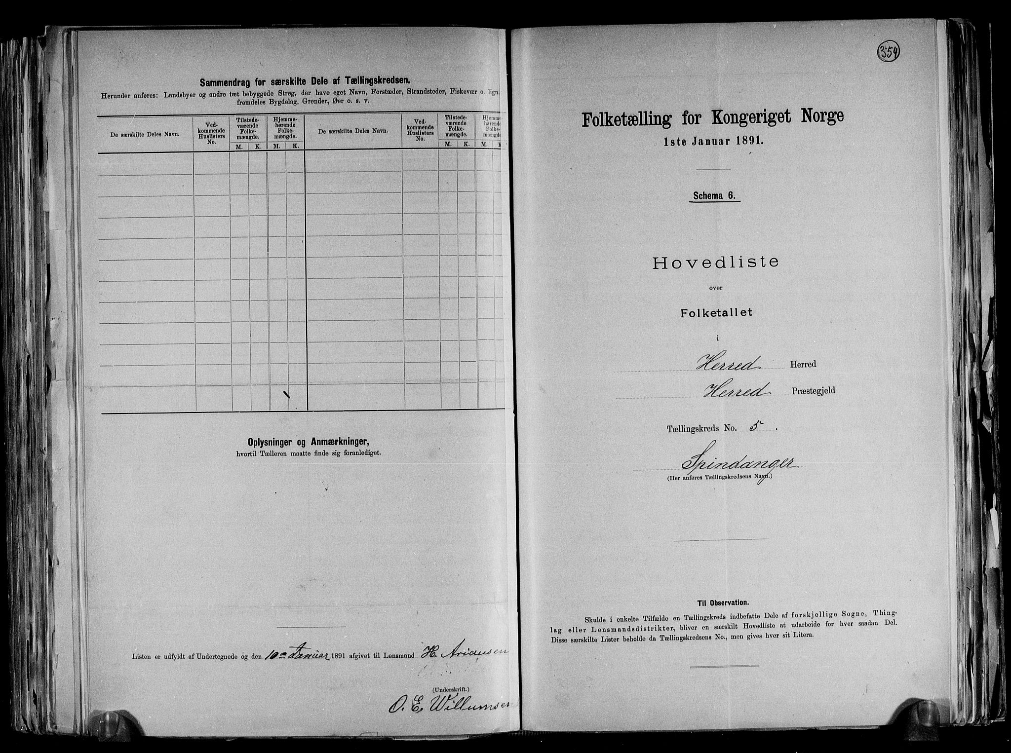 RA, Folketelling 1891 for 1039 Herad herred, 1891, s. 14