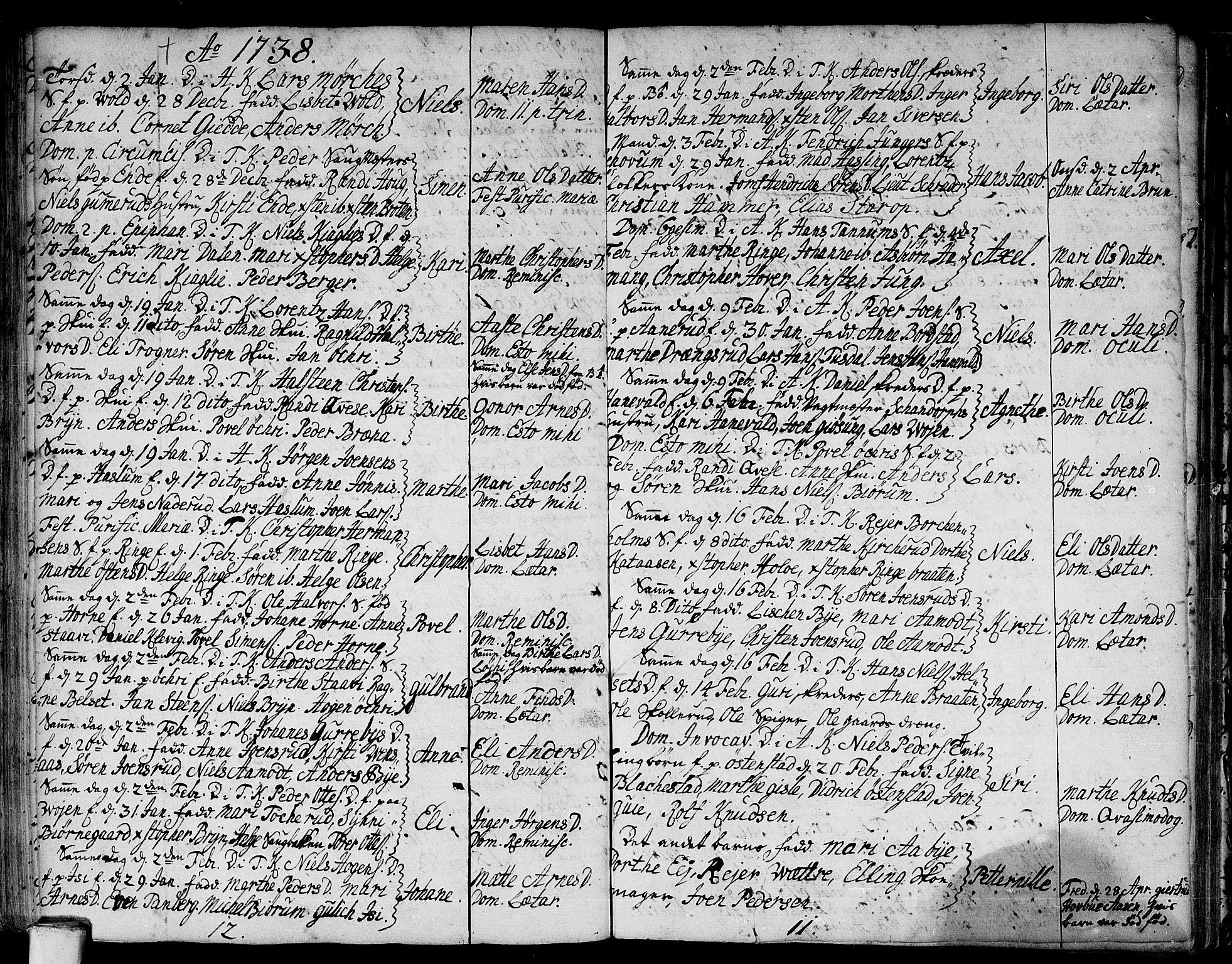 SAO, Asker prestekontor Kirkebøker, F/Fa/L0001: Ministerialbok nr. I 1, 1726-1744, s. 53