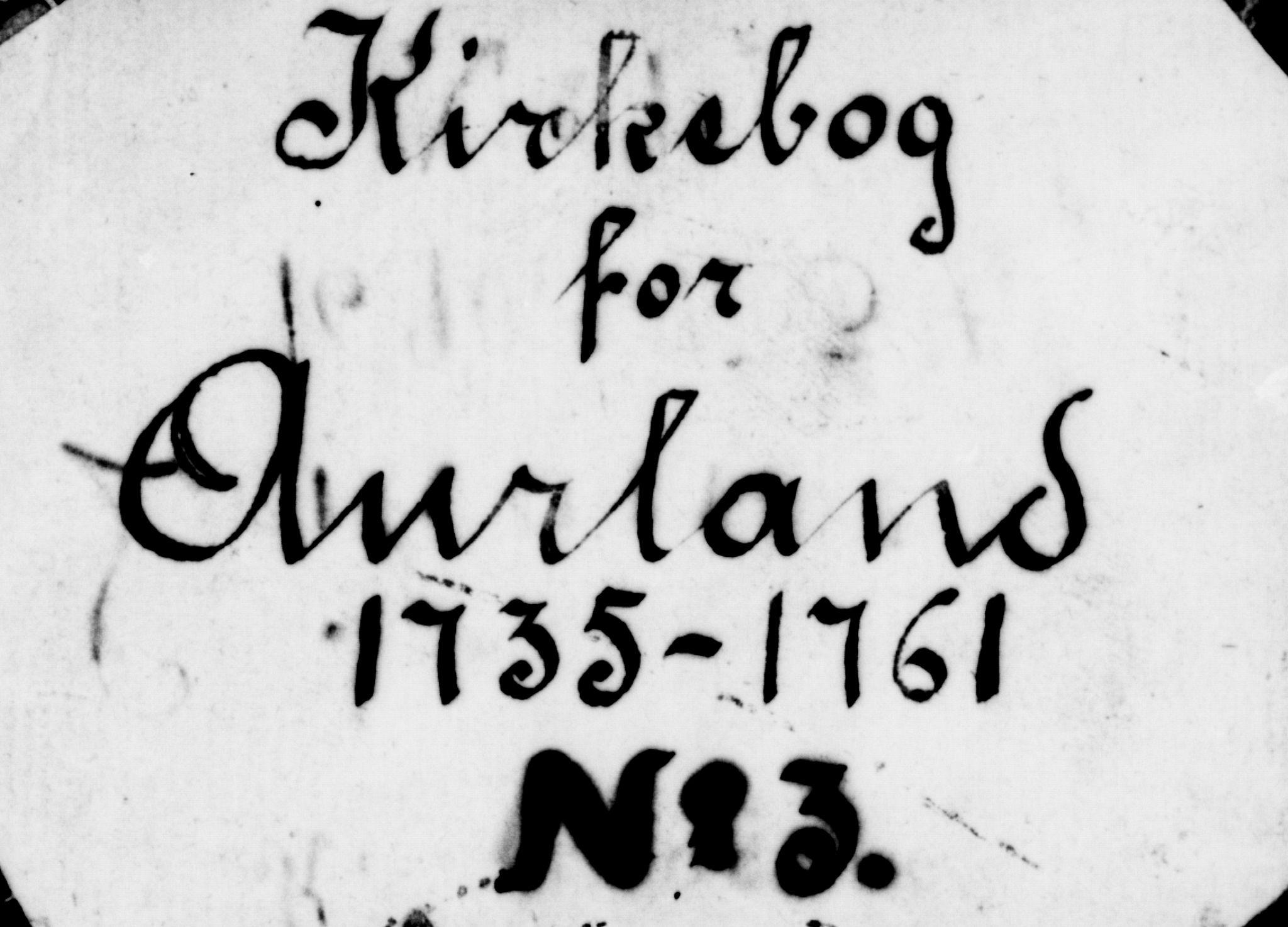 SAB, Aurland Sokneprestembete*, Ministerialbok nr. A 3, 1735-1761