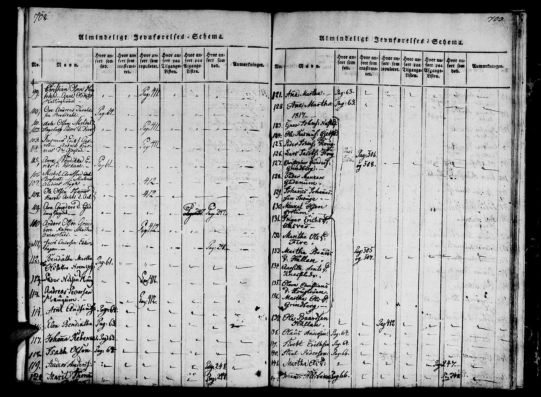 SAT, Ministerialprotokoller, klokkerbøker og fødselsregistre - Nord-Trøndelag, 746/L0441: Ministerialbok nr. 746A03 /2, 1816-1827, s. 702-703