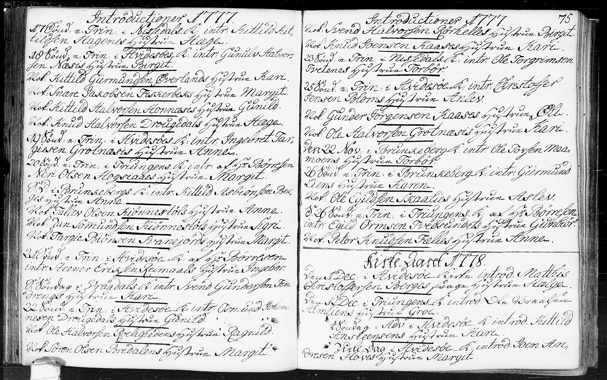 SAKO, Kviteseid kirkebøker, F/Fa/L0002: Ministerialbok nr. I 2, 1773-1786, s. 75