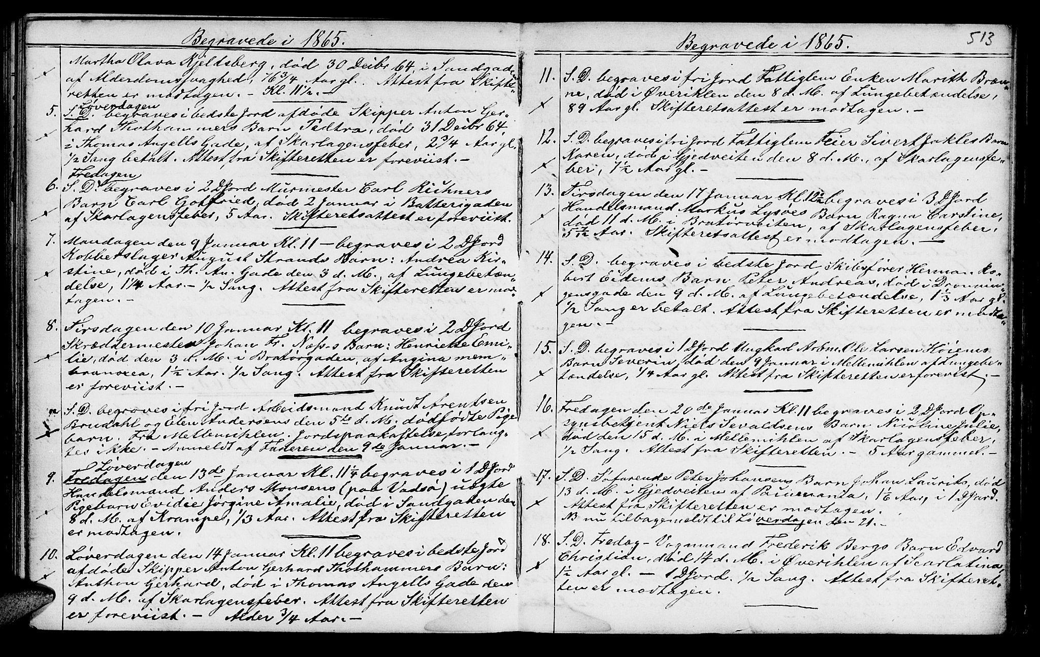SAT, Ministerialprotokoller, klokkerbøker og fødselsregistre - Sør-Trøndelag, 602/L0140: Klokkerbok nr. 602C08, 1864-1872, s. 512-513
