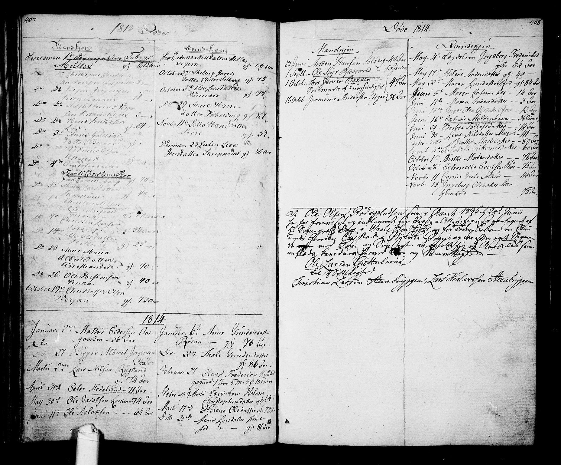 SAKO, Borre kirkebøker, F/Fa/L0003: Ministerialbok nr. I 3, 1807-1814, s. 407-408