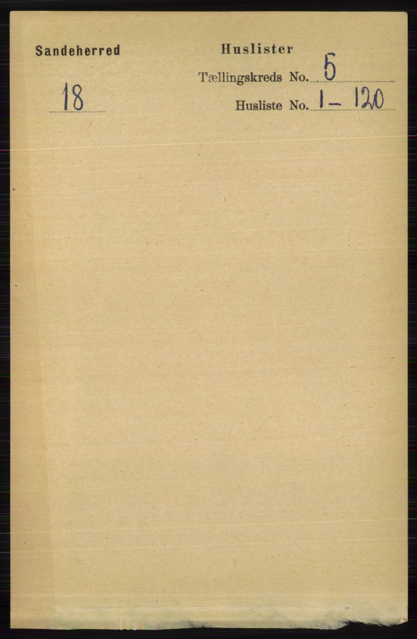 RA, Folketelling 1891 for 0724 Sandeherred herred, 1891, s. 2693