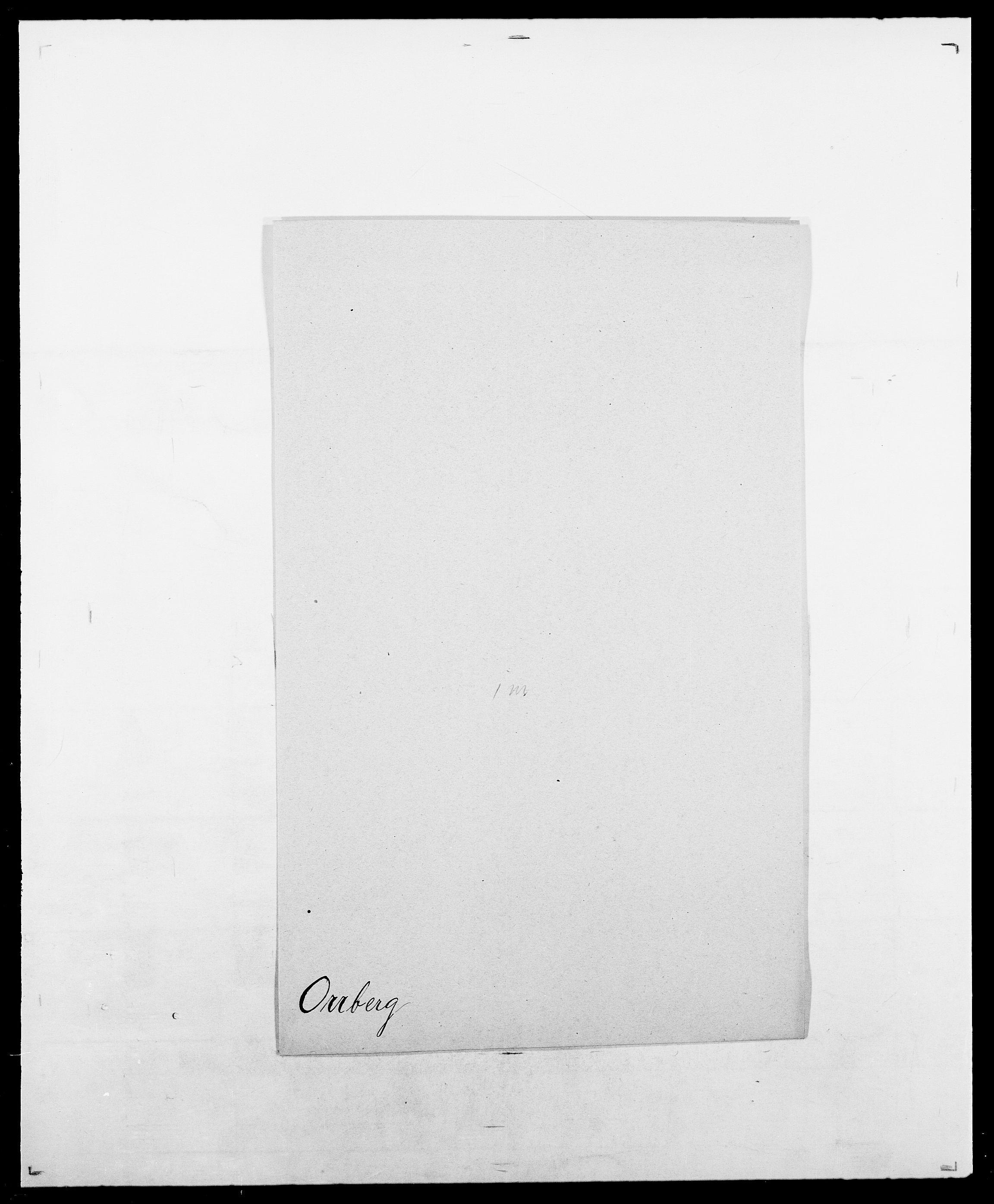SAO, Delgobe, Charles Antoine - samling, D/Da/L0029: Obel - Oxholm, s. 429