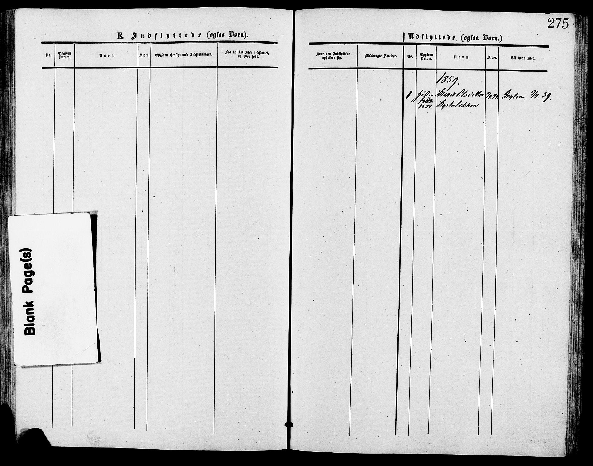 SAH, Lesja prestekontor, Ministerialbok nr. 9, 1854-1889, s. 275