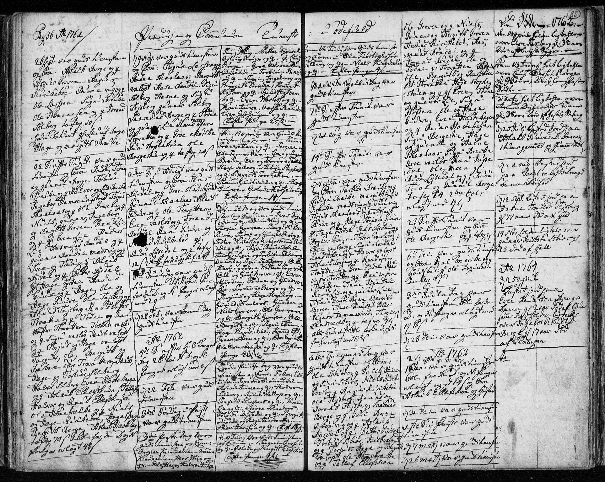 SAKO, Lårdal kirkebøker, F/Fa/L0003: Ministerialbok nr. I 3, 1754-1790, s. 85