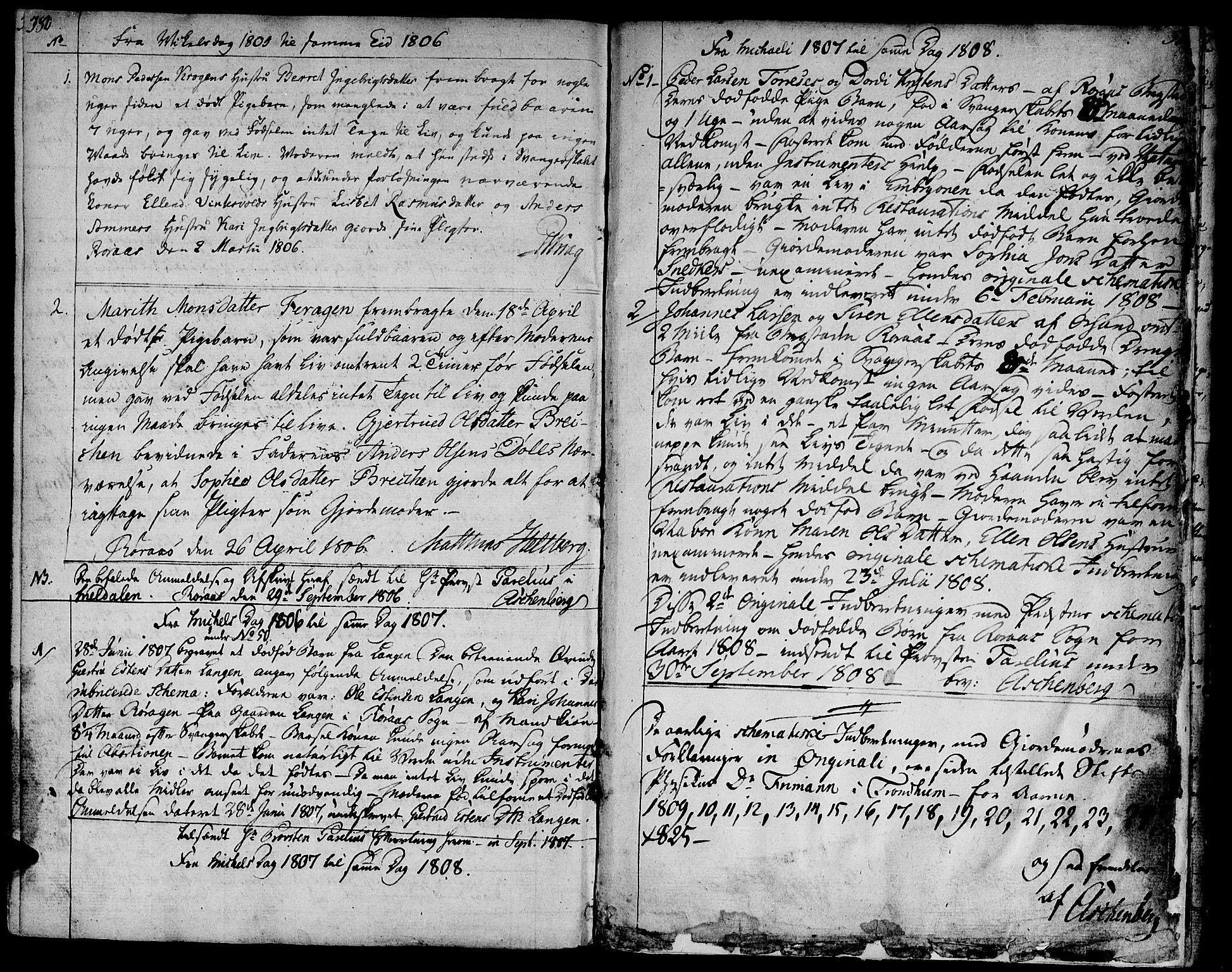 SAT, Ministerialprotokoller, klokkerbøker og fødselsregistre - Sør-Trøndelag, 681/L0927: Ministerialbok nr. 681A05, 1798-1808, s. 380-381