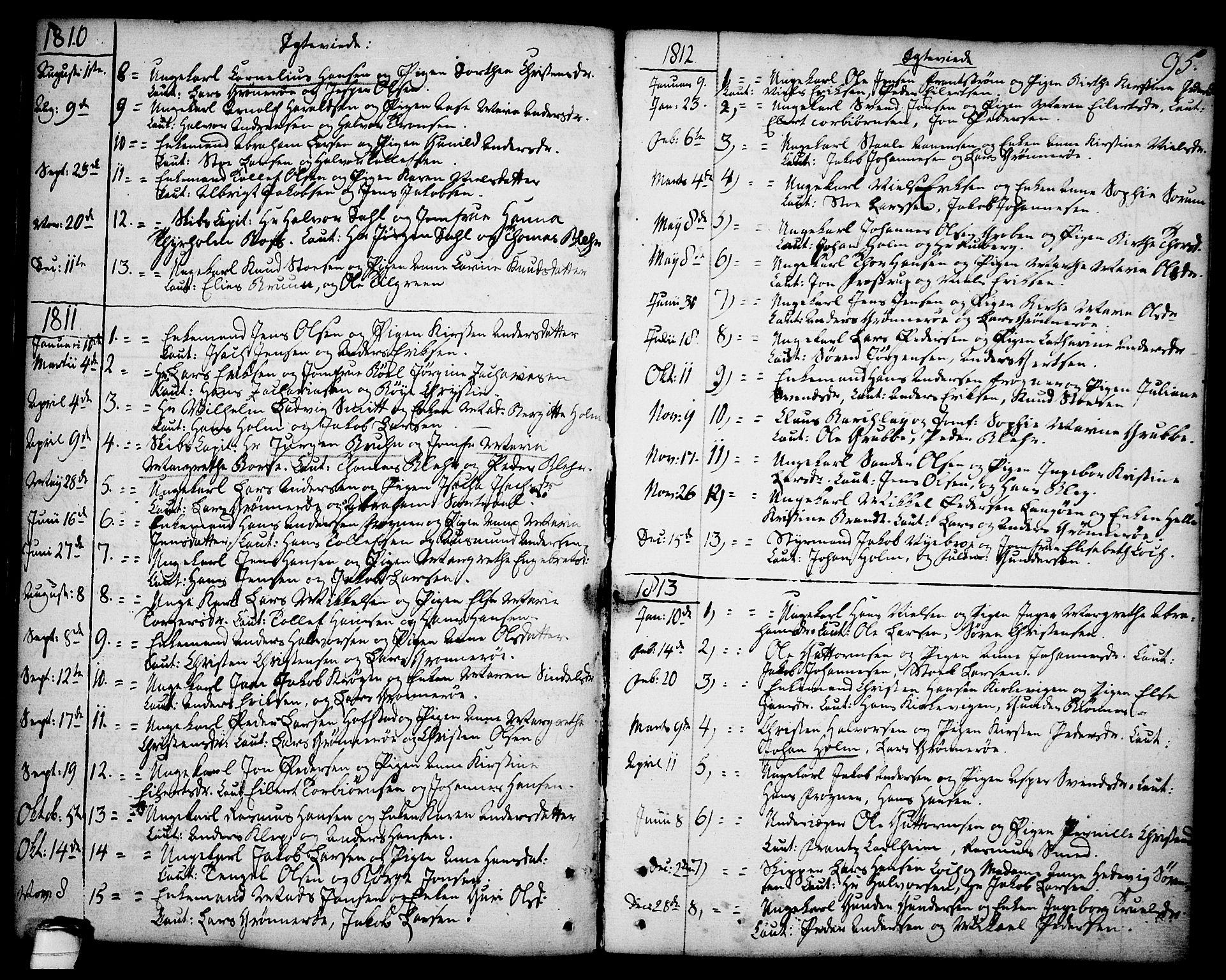 SAKO, Brevik kirkebøker, F/Fa/L0003: Ministerialbok nr. 3, 1764-1814, s. 95