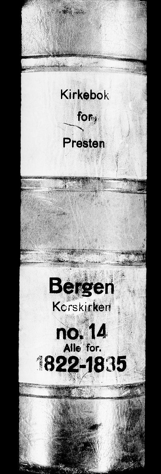 SAB, Korskirken Sokneprestembete, H/Haa/L0014: Ministerialbok nr. A 14, 1823-1835