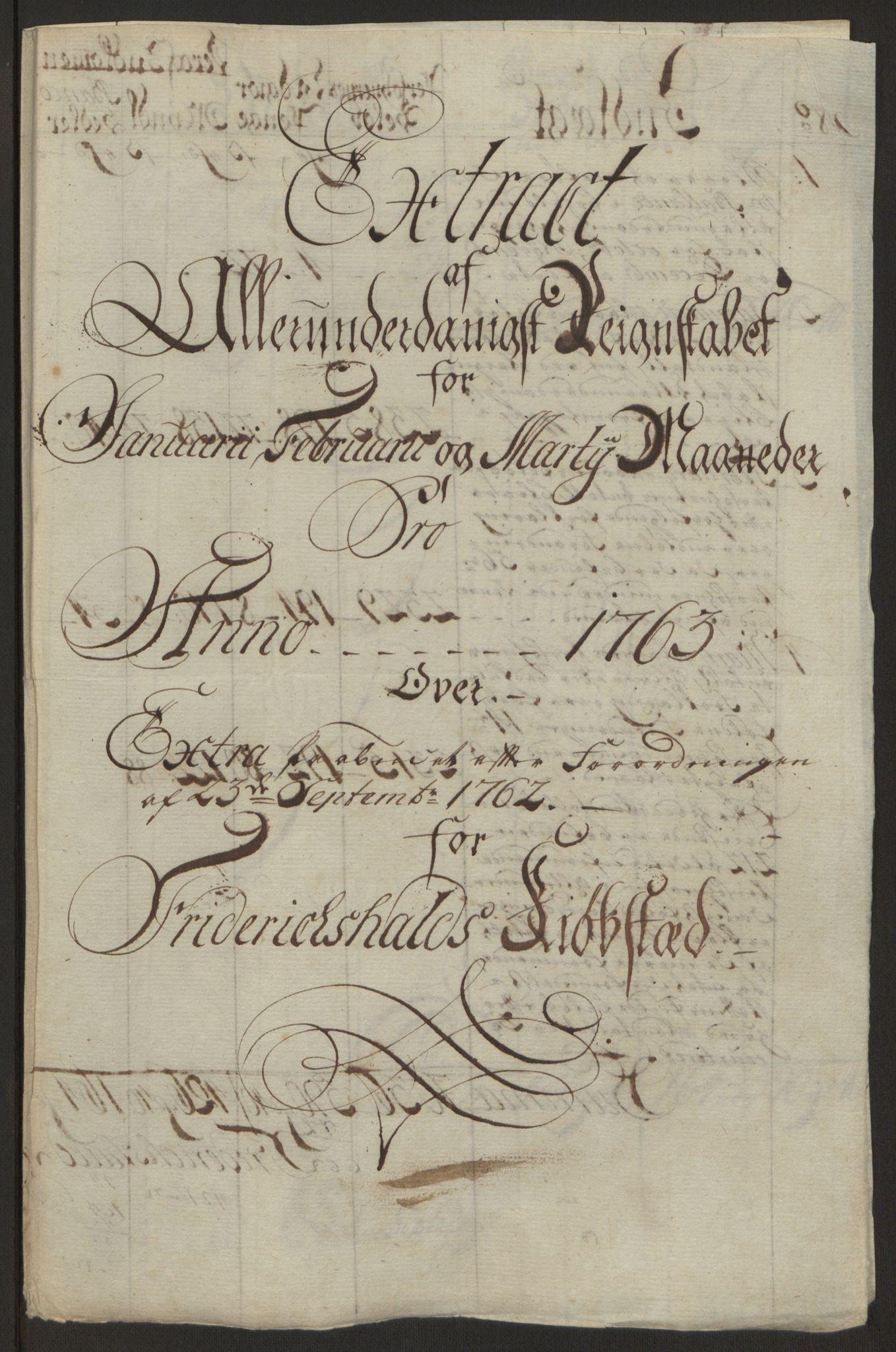 RA, Rentekammeret inntil 1814, Reviderte regnskaper, Byregnskaper, R/Ra/L0006: [A4] Kontribusjonsregnskap, 1762-1772, s. 73