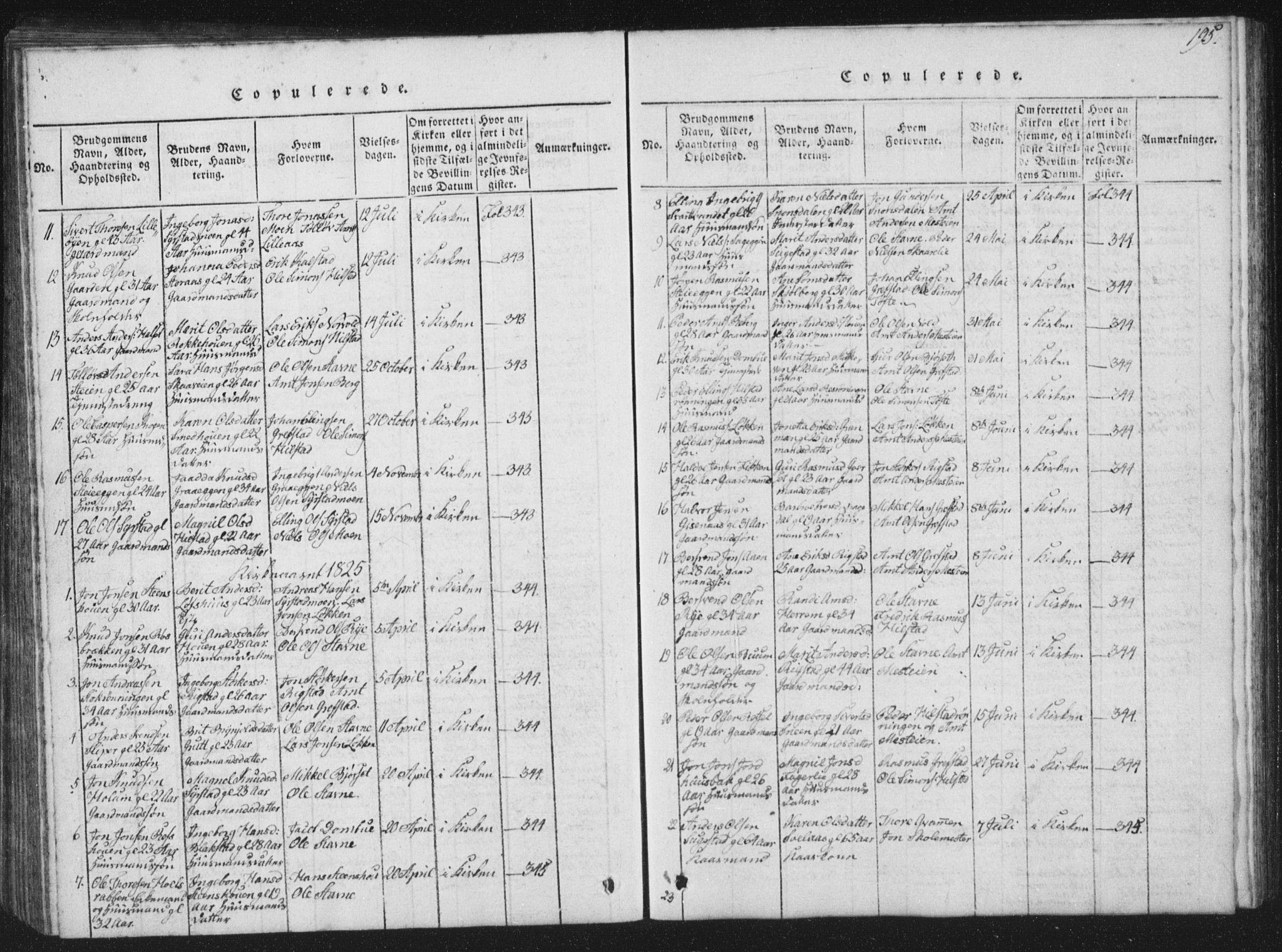 SAT, Ministerialprotokoller, klokkerbøker og fødselsregistre - Sør-Trøndelag, 672/L0862: Klokkerbok nr. 672C01, 1816-1831, s. 195