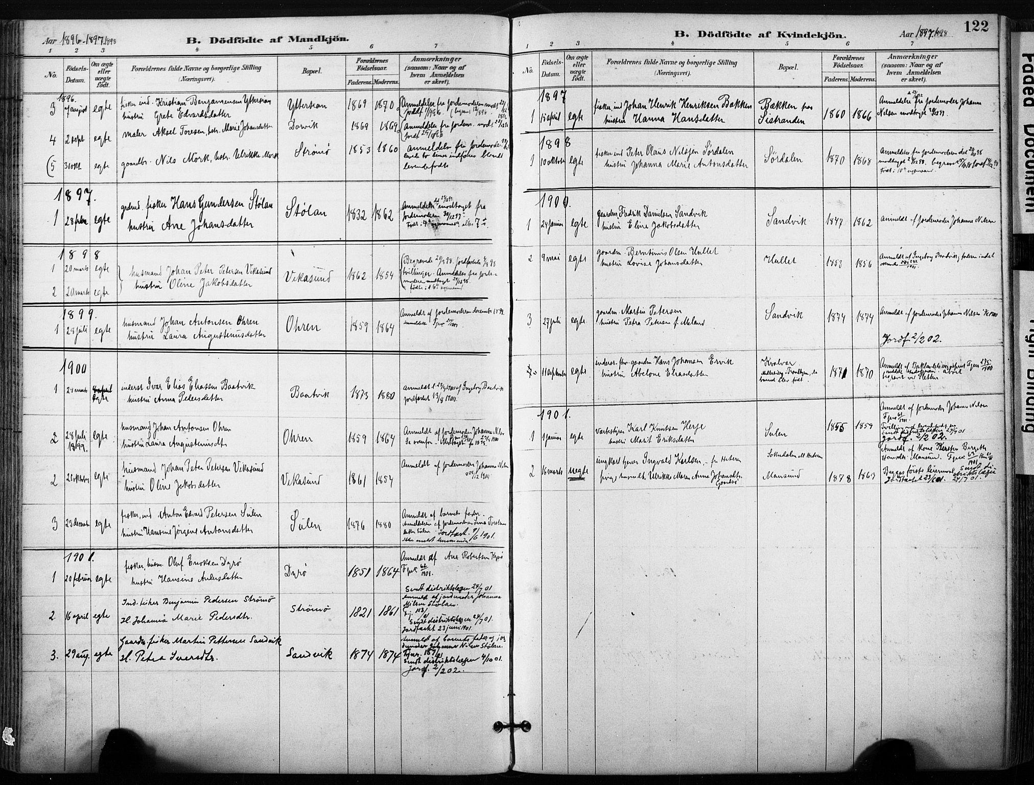 SAT, Ministerialprotokoller, klokkerbøker og fødselsregistre - Sør-Trøndelag, 640/L0579: Ministerialbok nr. 640A04, 1889-1902, s. 122