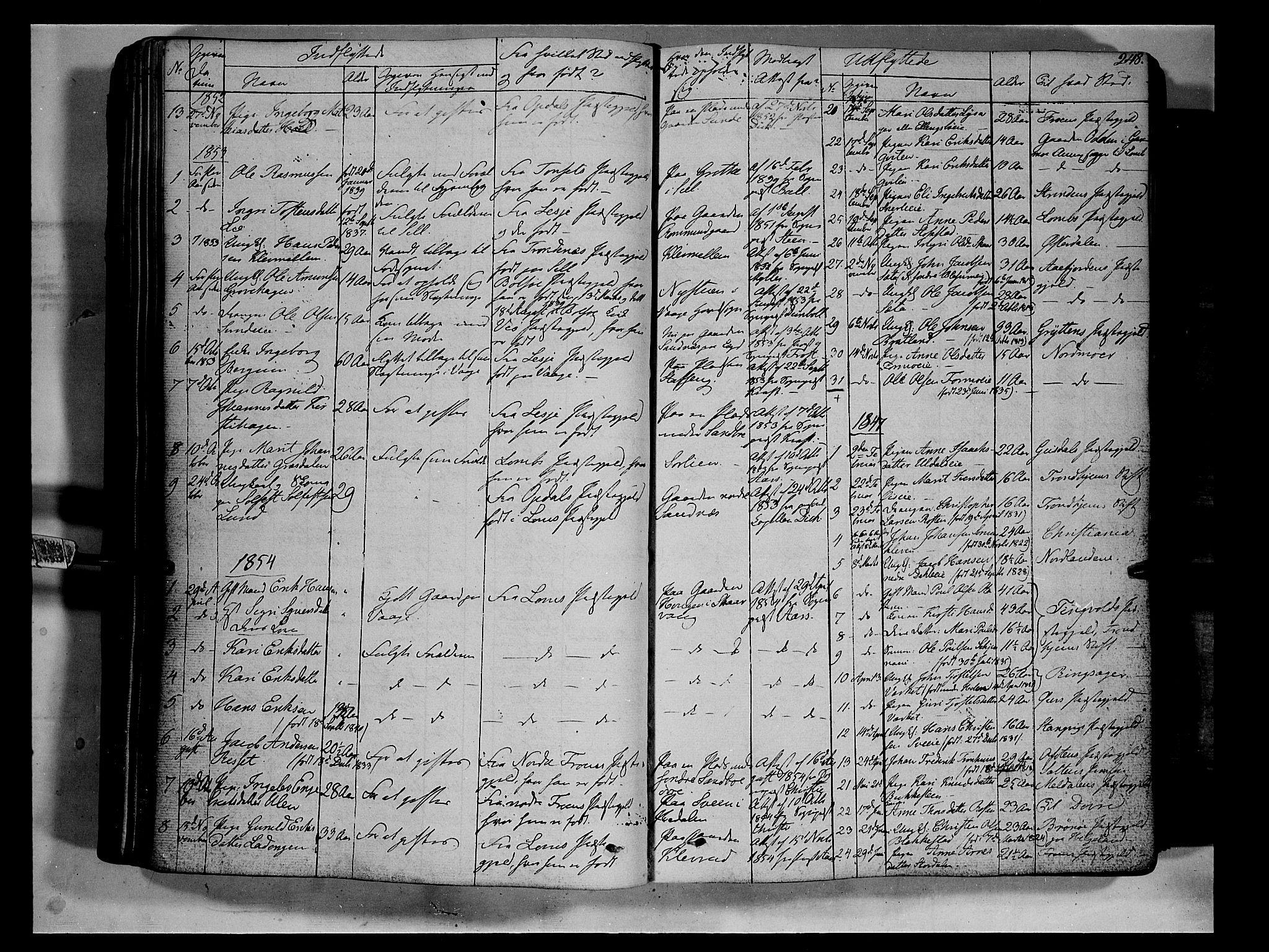 SAH, Vågå prestekontor, Ministerialbok nr. 5 /1, 1842-1856, s. 248