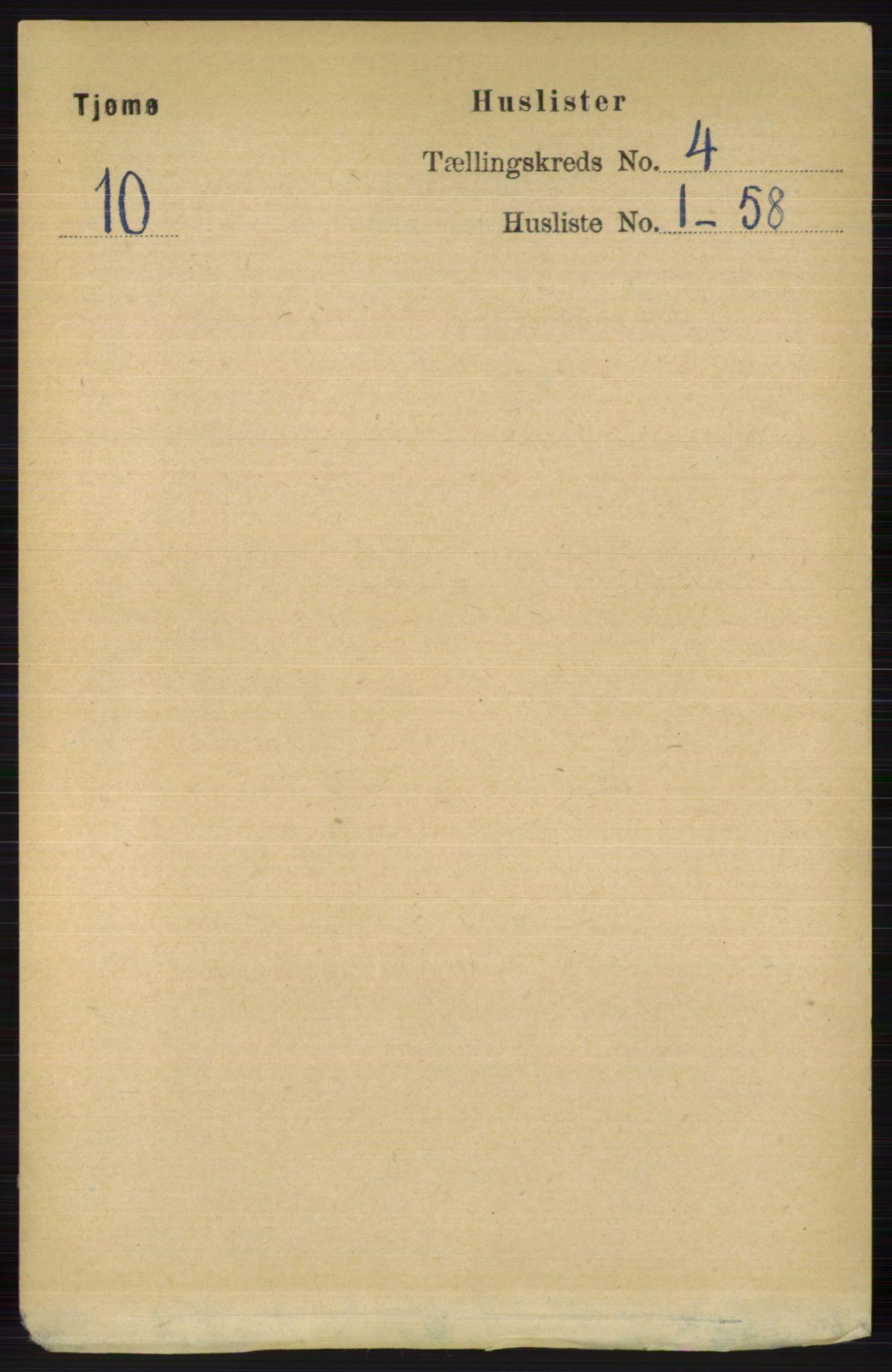 RA, Folketelling 1891 for 0723 Tjøme herred, 1891, s. 1210