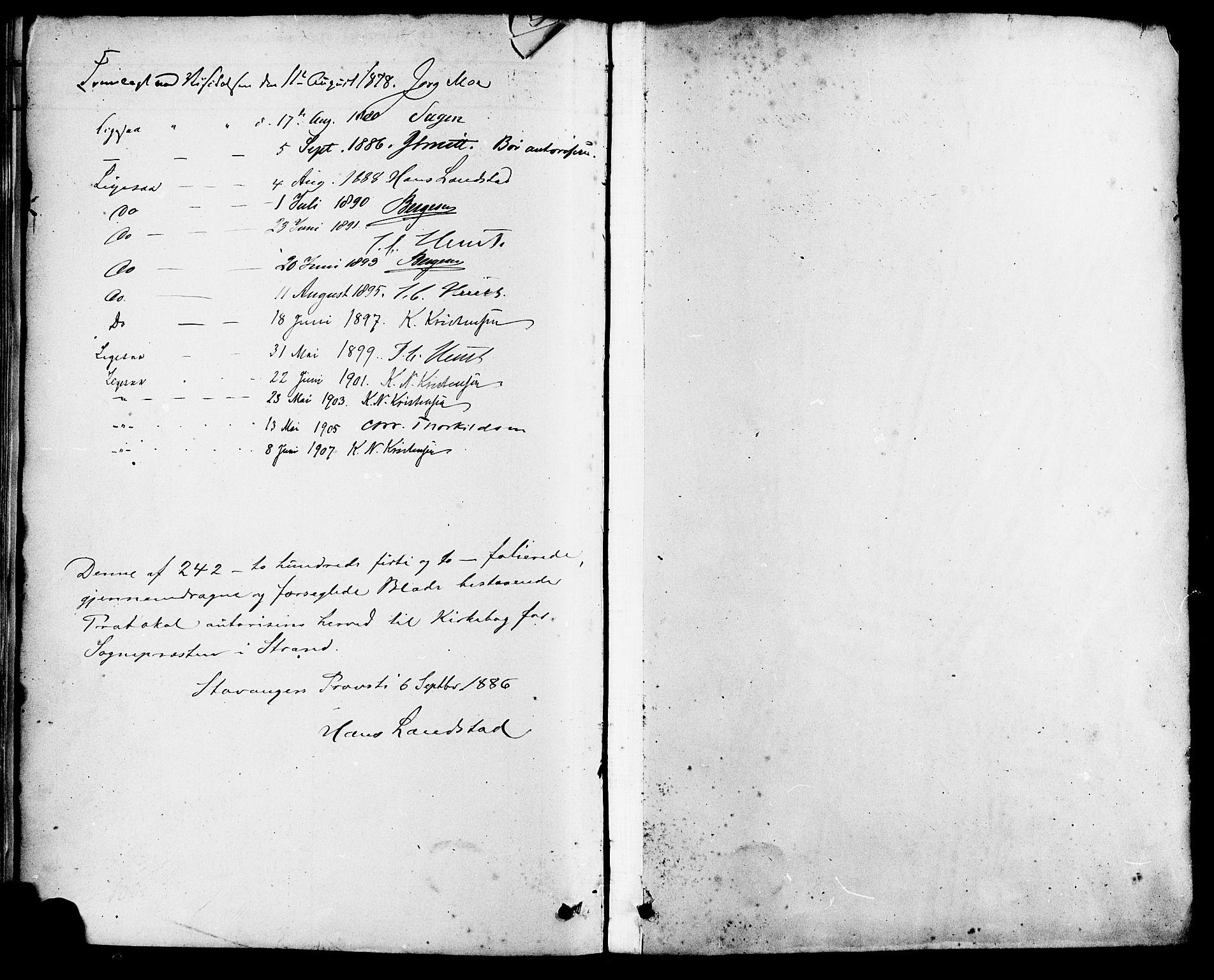 SAST, Strand sokneprestkontor, H/Ha/Haa/L0009: Ministerialbok nr. A 9, 1877-1908, s. 200