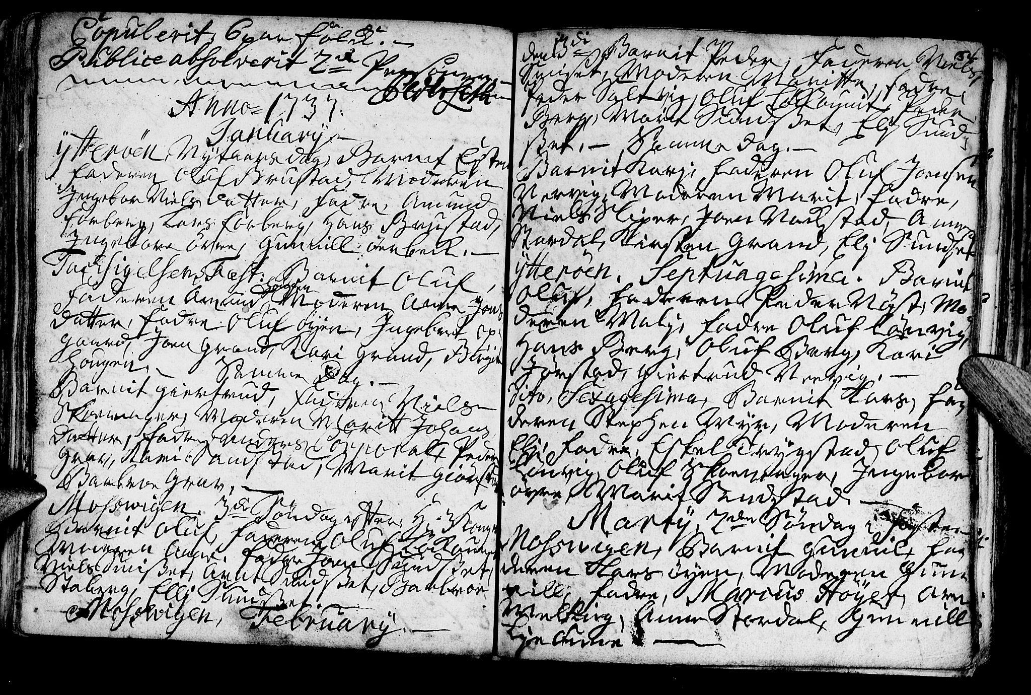 SAT, Ministerialprotokoller, klokkerbøker og fødselsregistre - Nord-Trøndelag, 722/L0215: Ministerialbok nr. 722A02, 1718-1755, s. 54