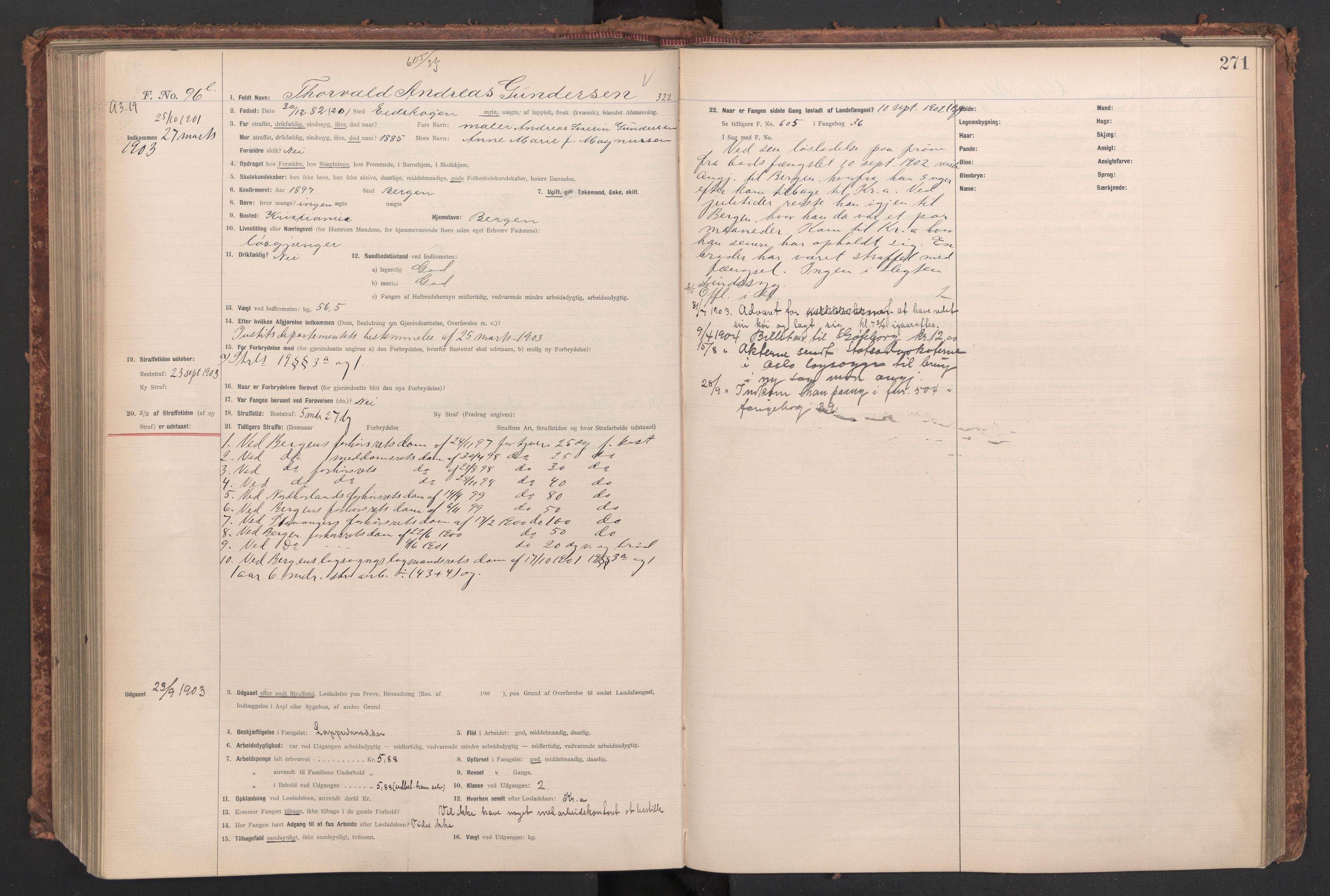 RA, Botsfengslet, D/Db/Dbb/L0037: 826k - 177l, 1902-1903, s. 271