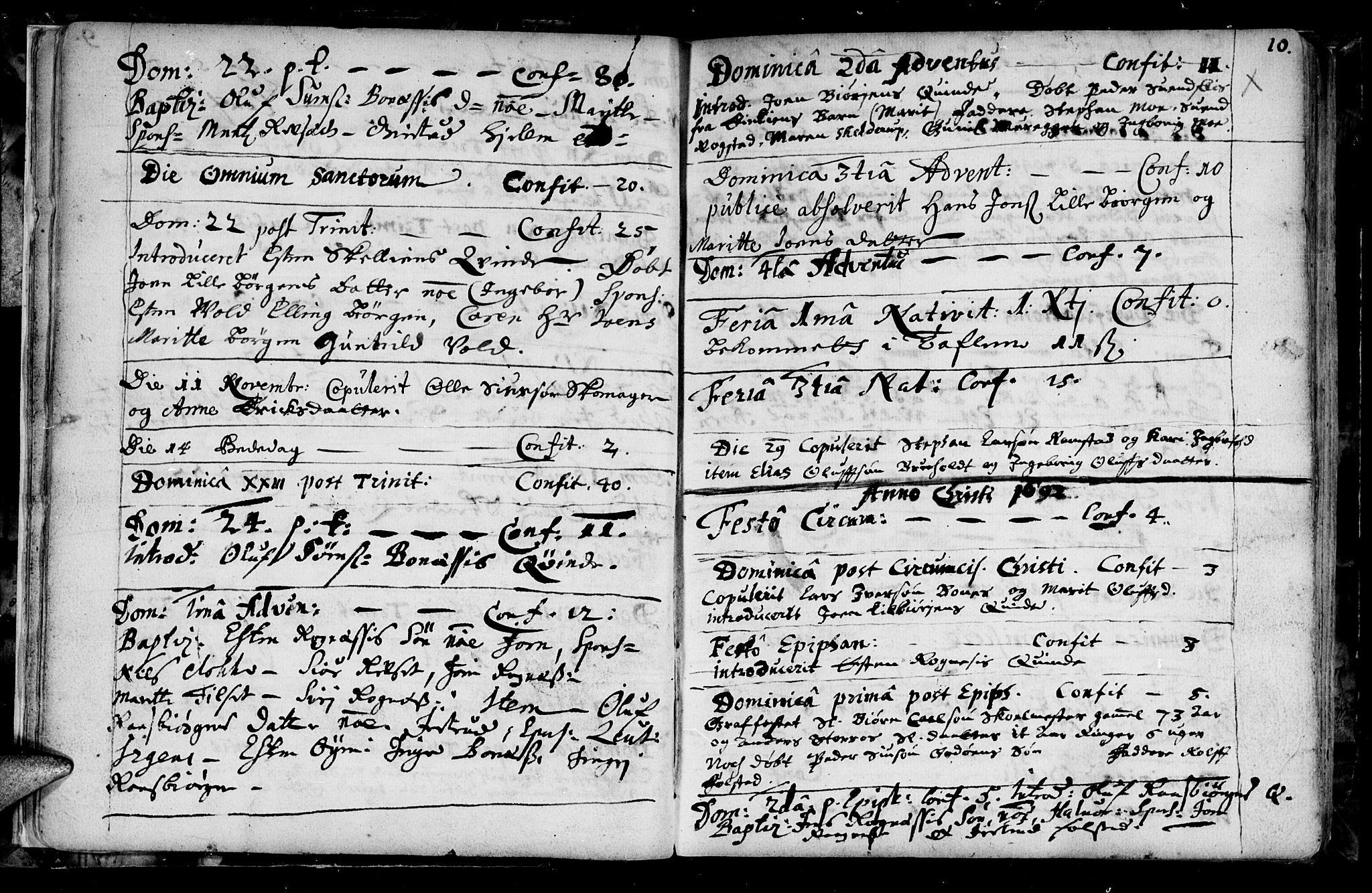 SAT, Ministerialprotokoller, klokkerbøker og fødselsregistre - Sør-Trøndelag, 687/L0990: Ministerialbok nr. 687A01, 1690-1746, s. 10