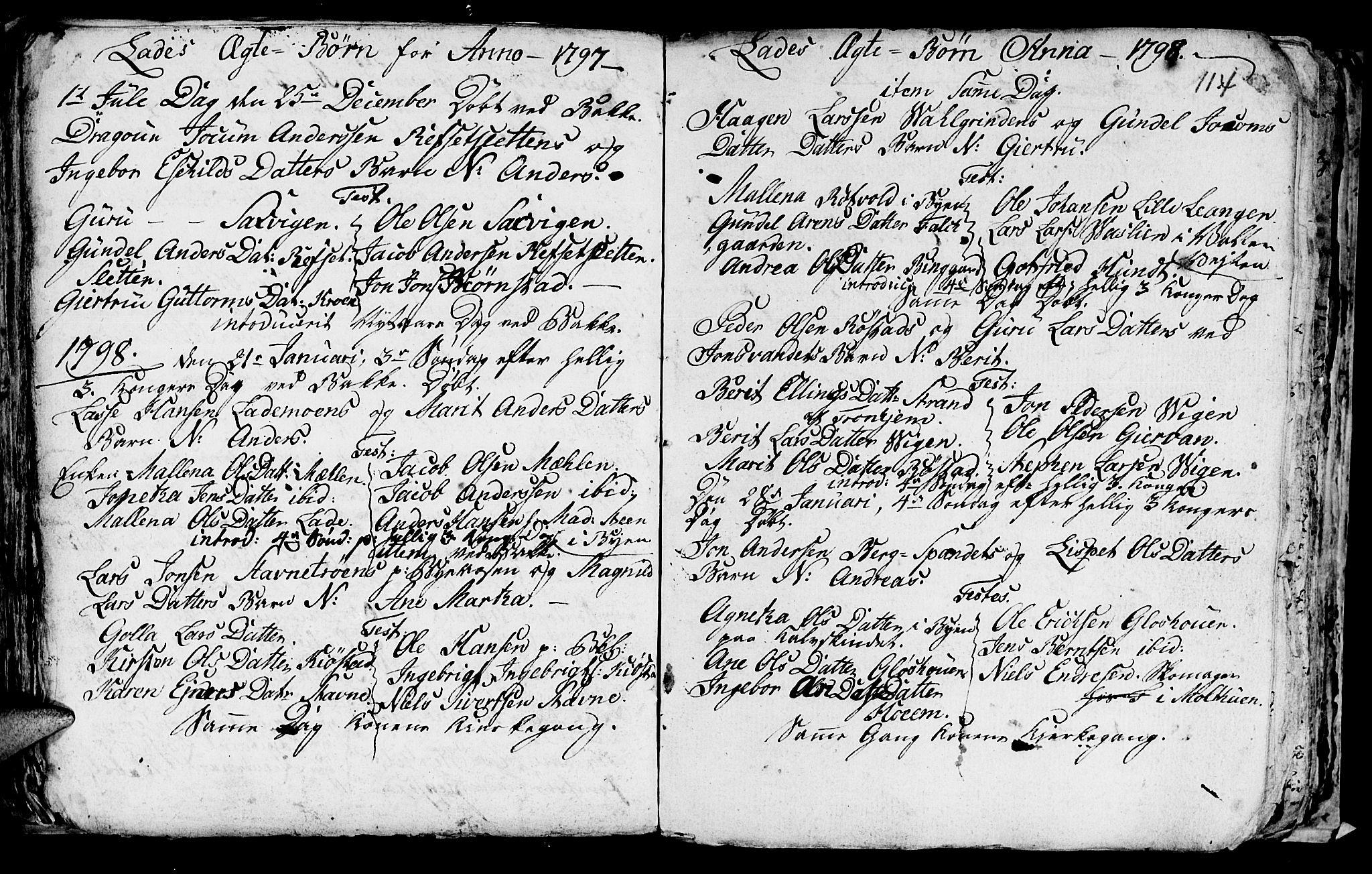 SAT, Ministerialprotokoller, klokkerbøker og fødselsregistre - Sør-Trøndelag, 606/L0305: Klokkerbok nr. 606C01, 1757-1819, s. 114