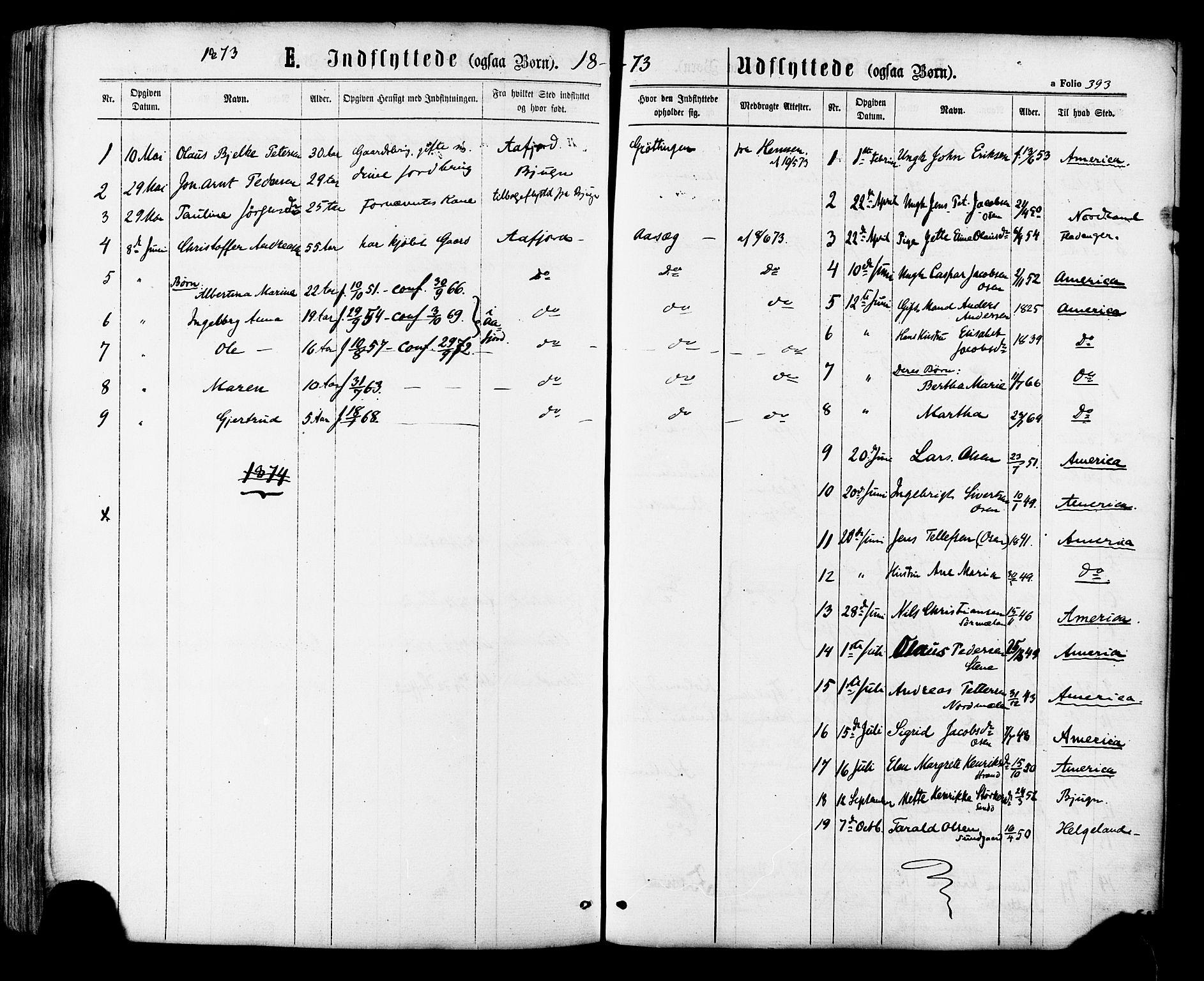SAT, Ministerialprotokoller, klokkerbøker og fødselsregistre - Sør-Trøndelag, 657/L0706: Ministerialbok nr. 657A07, 1867-1878, s. 393