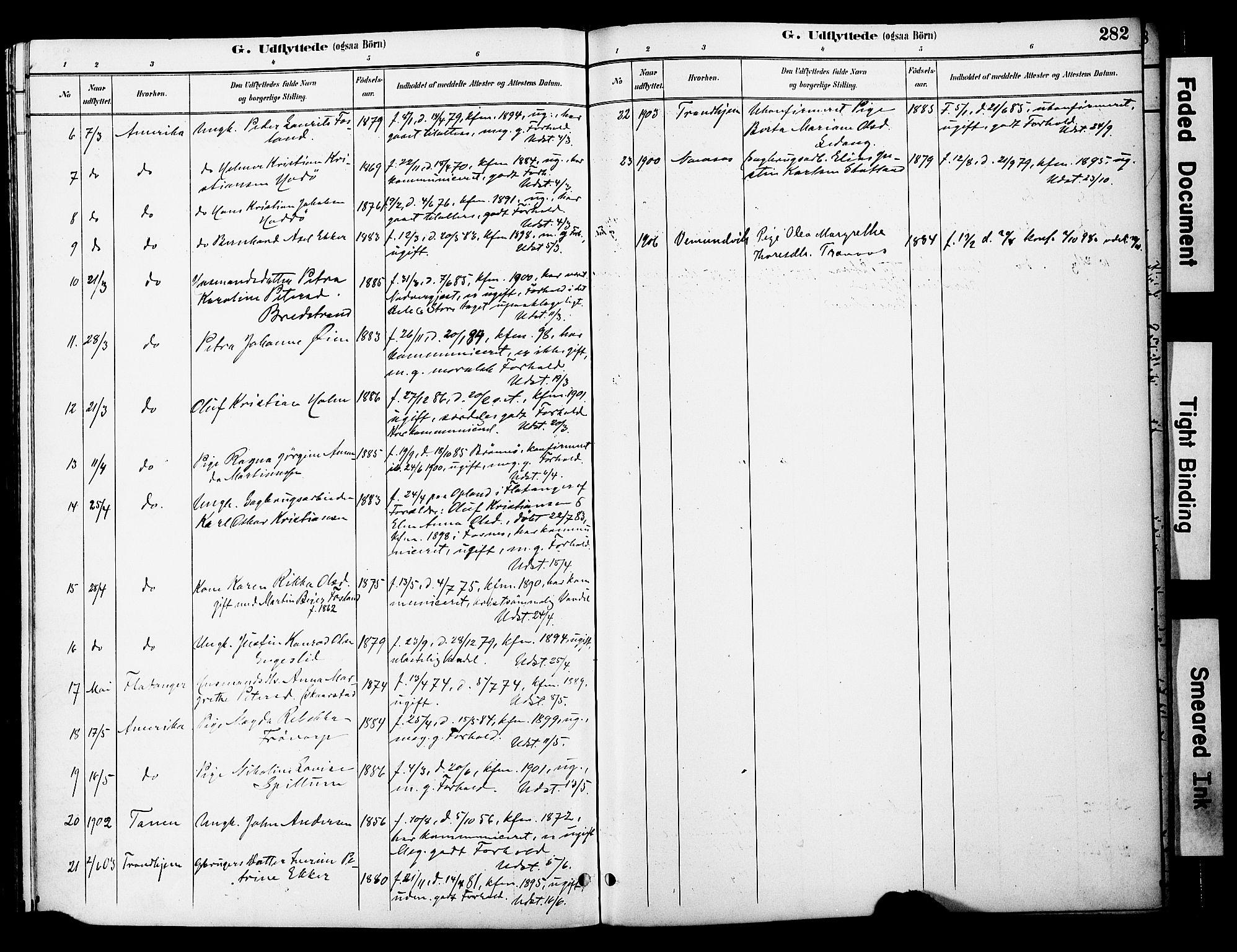 SAT, Ministerialprotokoller, klokkerbøker og fødselsregistre - Nord-Trøndelag, 774/L0628: Ministerialbok nr. 774A02, 1887-1903, s. 282