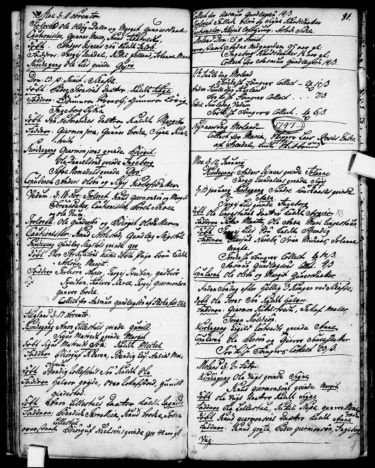 SAKO, Fyresdal kirkebøker, F/Fa/L0001: Ministerialbok nr. I 1, 1724-1748, s. 81