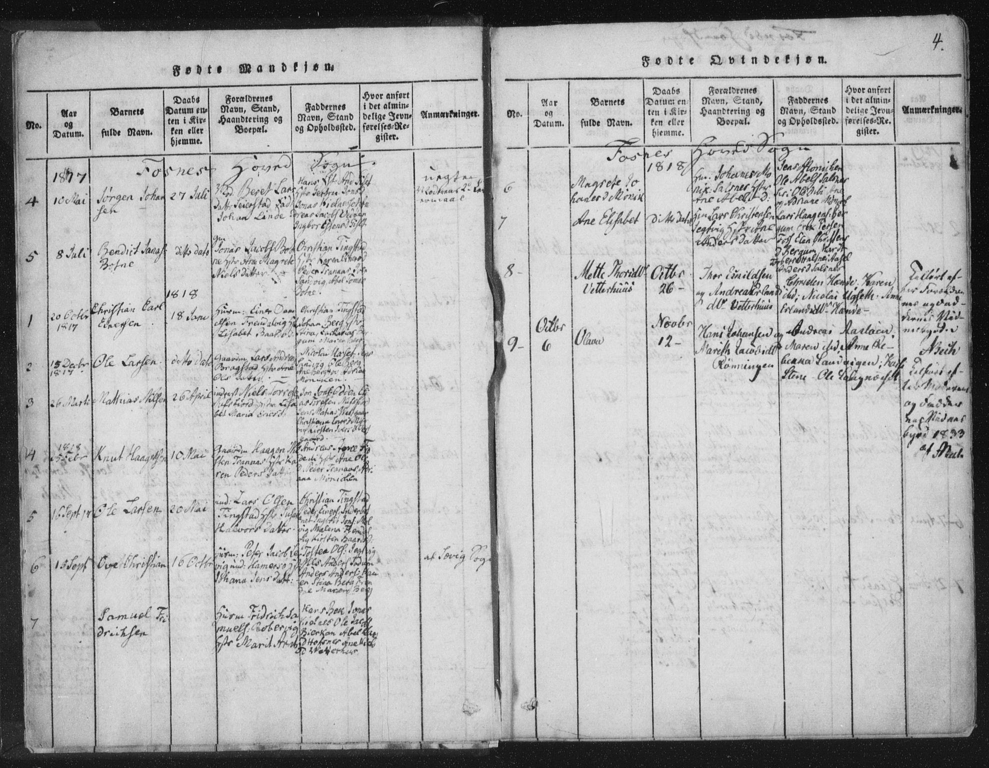 SAT, Ministerialprotokoller, klokkerbøker og fødselsregistre - Nord-Trøndelag, 773/L0609: Ministerialbok nr. 773A03 /1, 1815-1830, s. 4