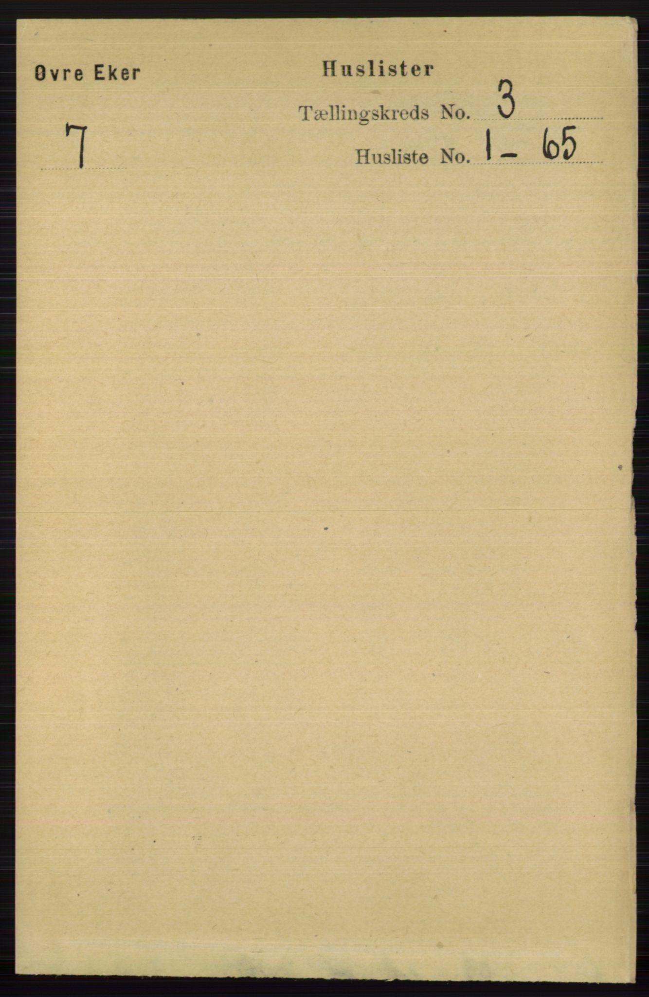 RA, Folketelling 1891 for 0624 Øvre Eiker herred, 1891, s. 922