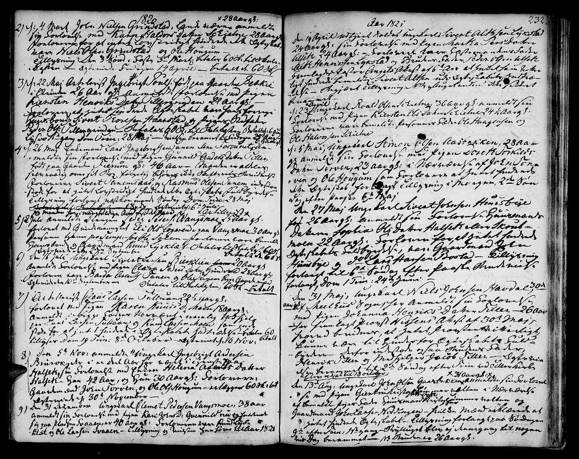 SAT, Ministerialprotokoller, klokkerbøker og fødselsregistre - Sør-Trøndelag, 618/L0438: Ministerialbok nr. 618A03, 1783-1815, s. 232