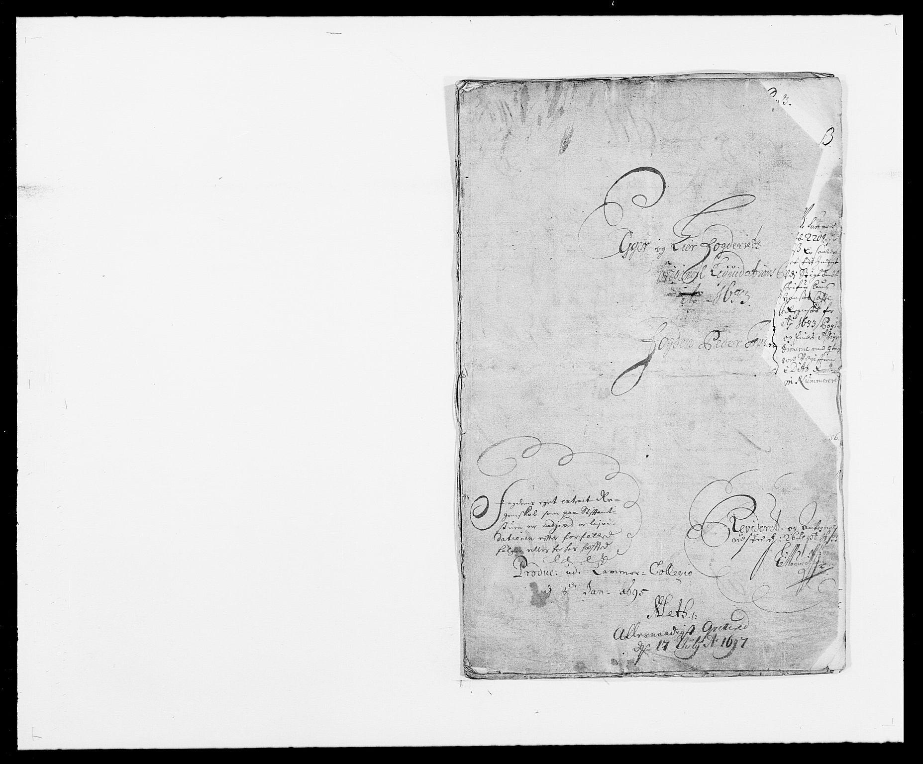 RA, Rentekammeret inntil 1814, Reviderte regnskaper, Fogderegnskap, R28/L1690: Fogderegnskap Eiker og Lier, 1692-1693, s. 123