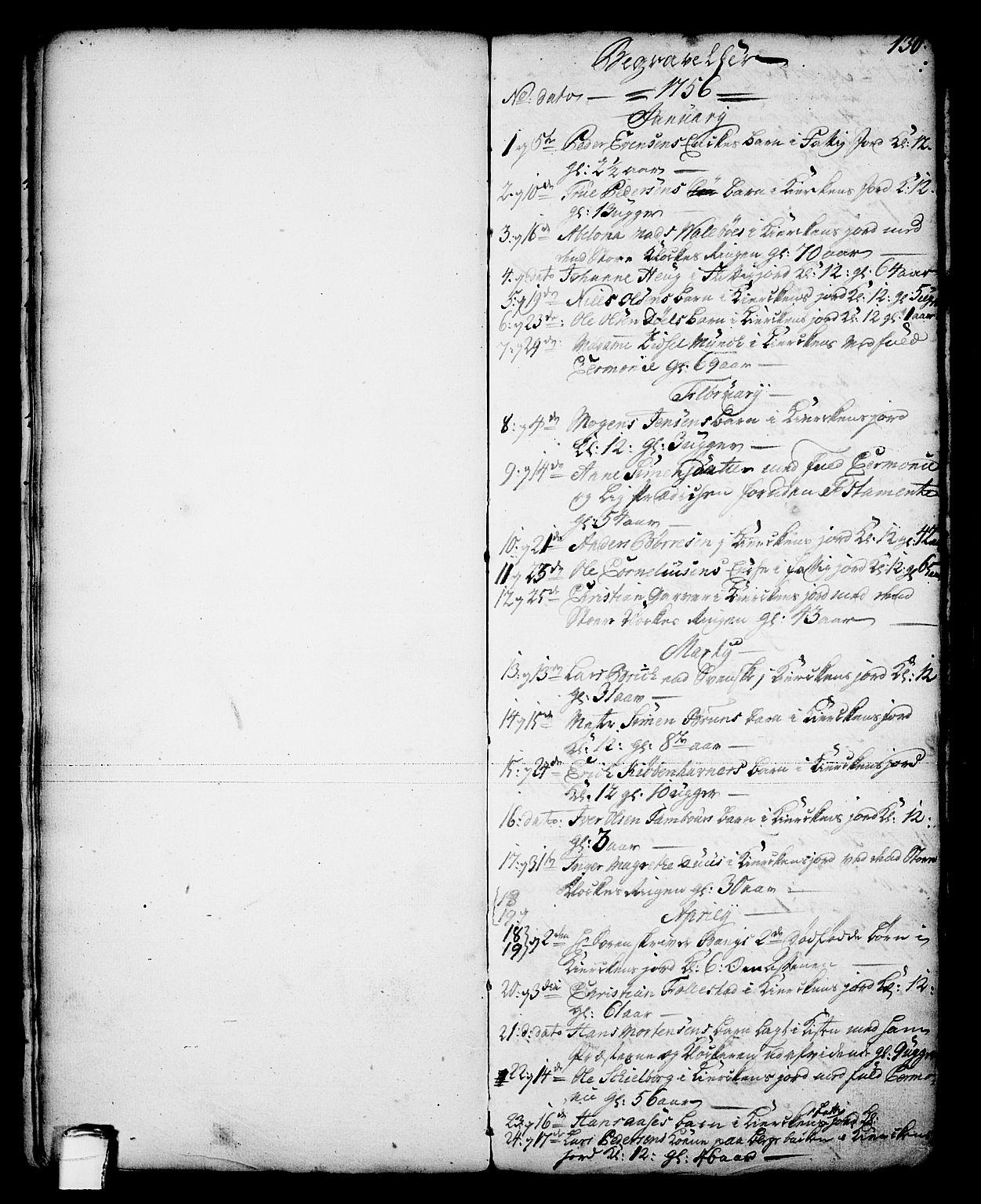 SAKO, Skien kirkebøker, G/Ga/L0001: Klokkerbok nr. 1, 1756-1791, s. 130