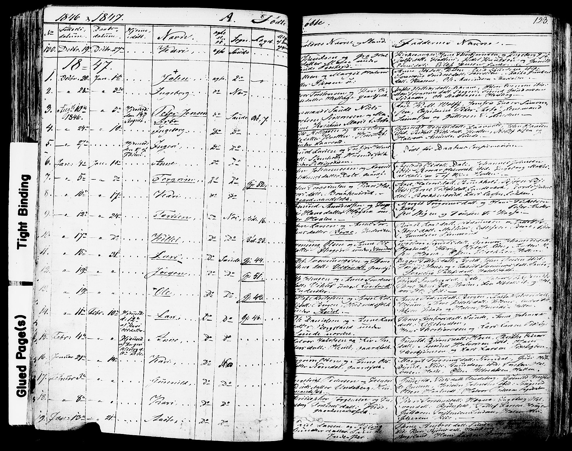 SAKO, Sauherad kirkebøker, F/Fa/L0006: Ministerialbok nr. I 6, 1827-1850, s. 123