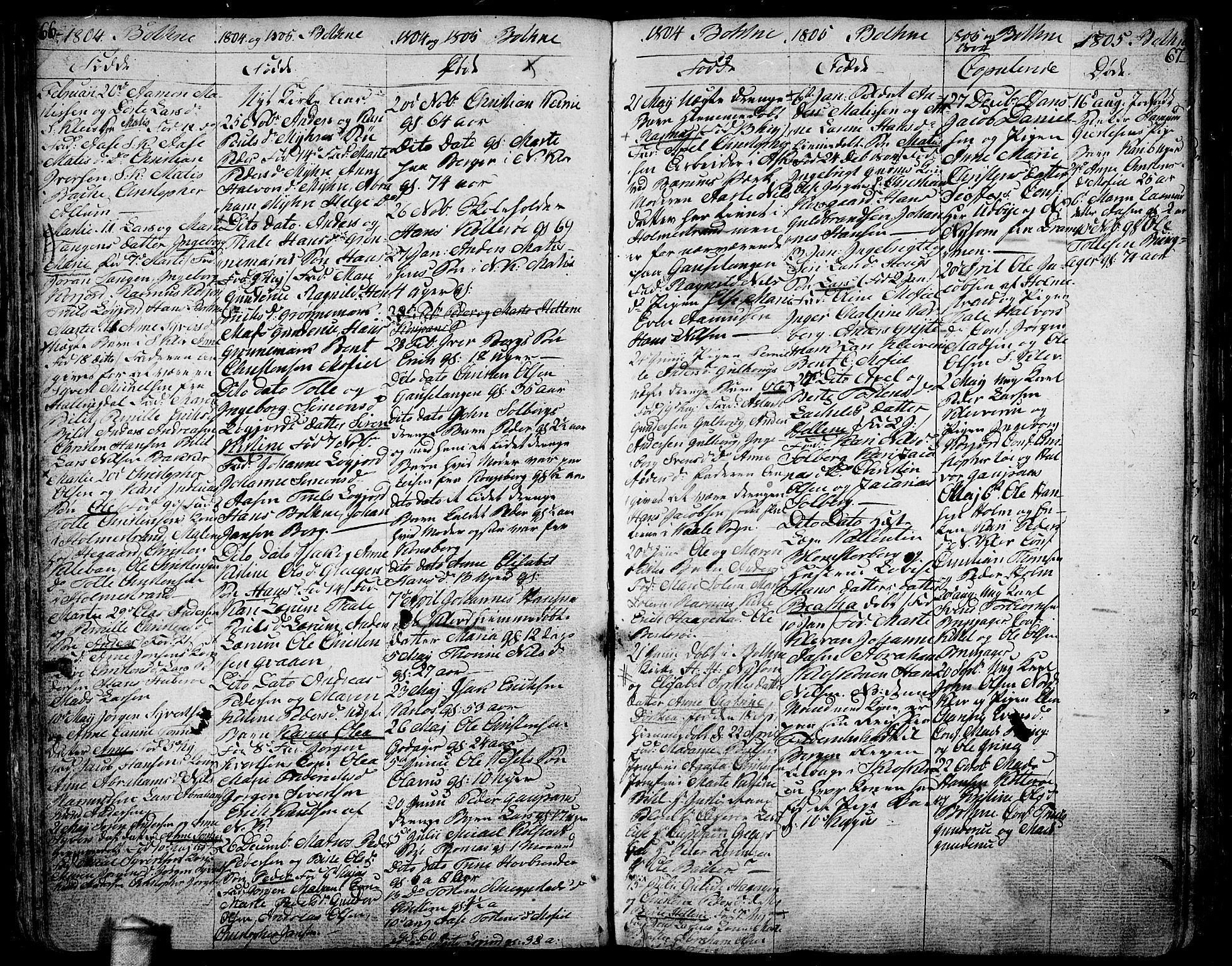 SAKO, Botne kirkebøker, F/Fa/L0003: Ministerialbok nr. I 3 /1, 1792-1844, s. 66-67