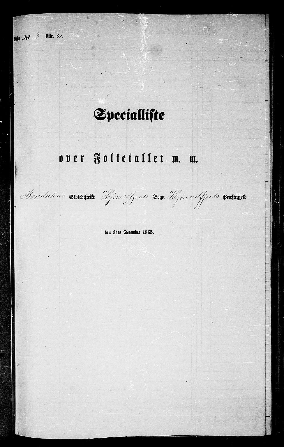 RA, Folketelling 1865 for 1522P Hjørundfjord prestegjeld, 1865, s. 39