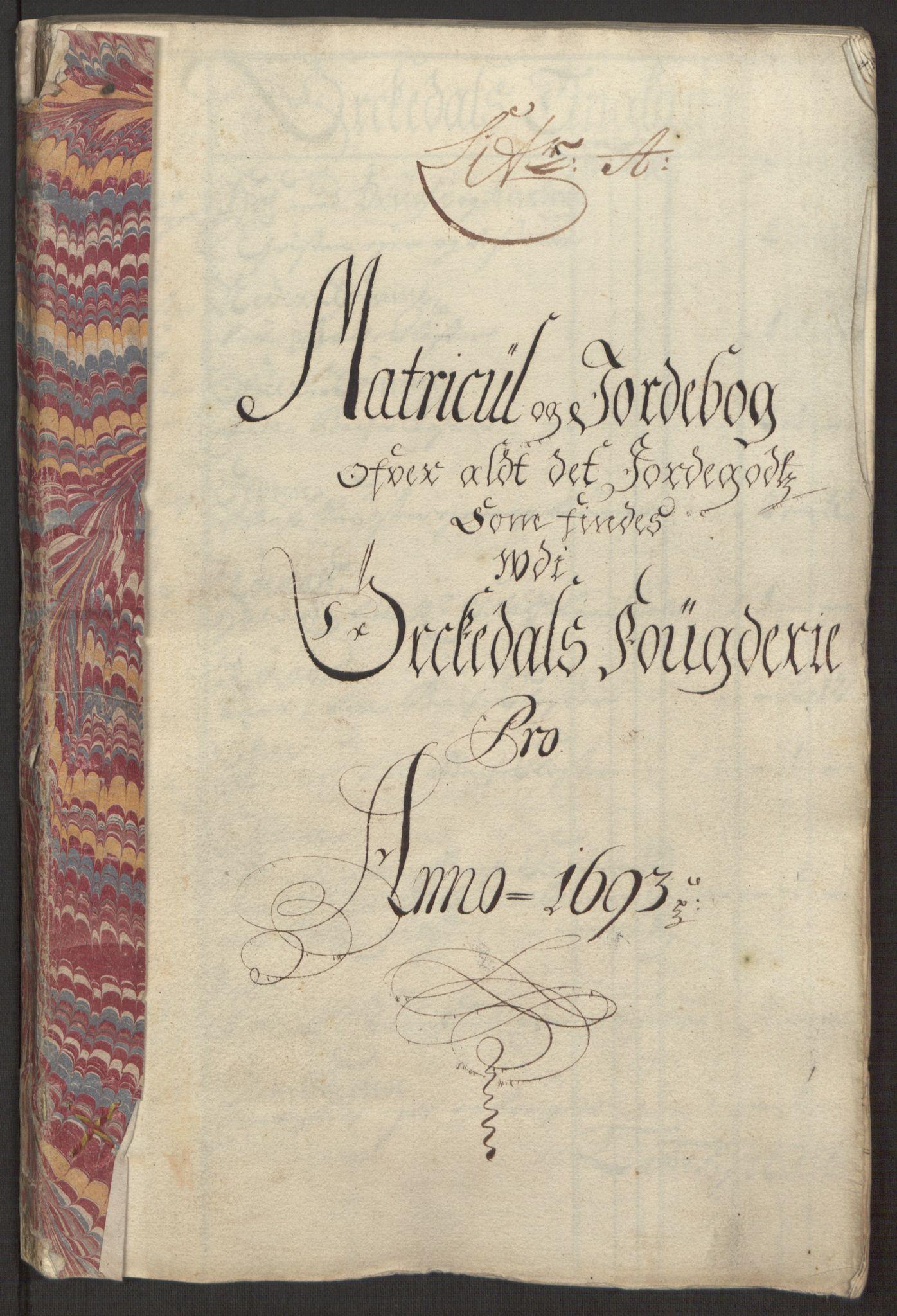 RA, Rentekammeret inntil 1814, Reviderte regnskaper, Fogderegnskap, R58/L3938: Fogderegnskap Orkdal, 1693, s. 31