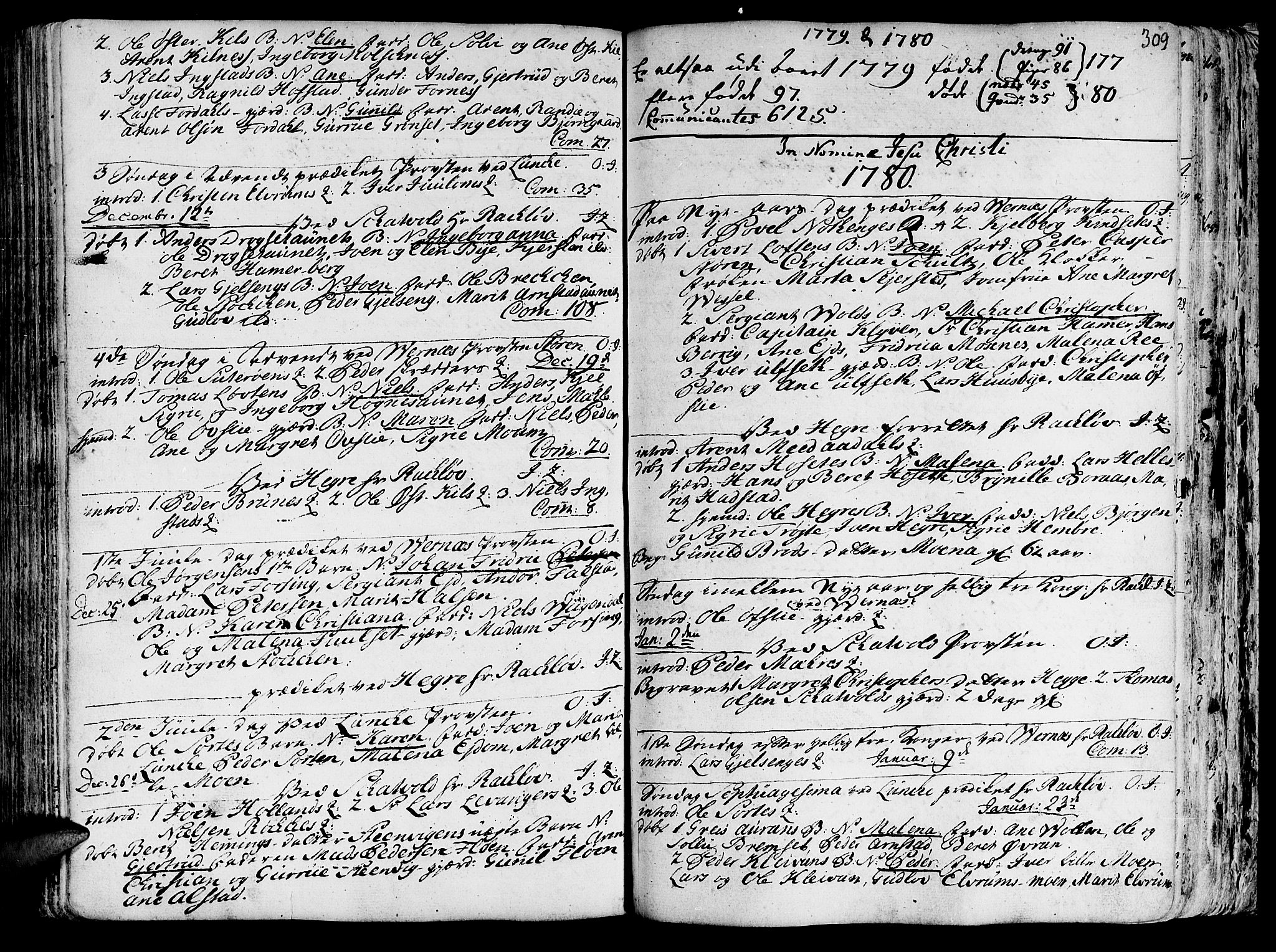 SAT, Ministerialprotokoller, klokkerbøker og fødselsregistre - Nord-Trøndelag, 709/L0057: Ministerialbok nr. 709A05, 1755-1780, s. 309