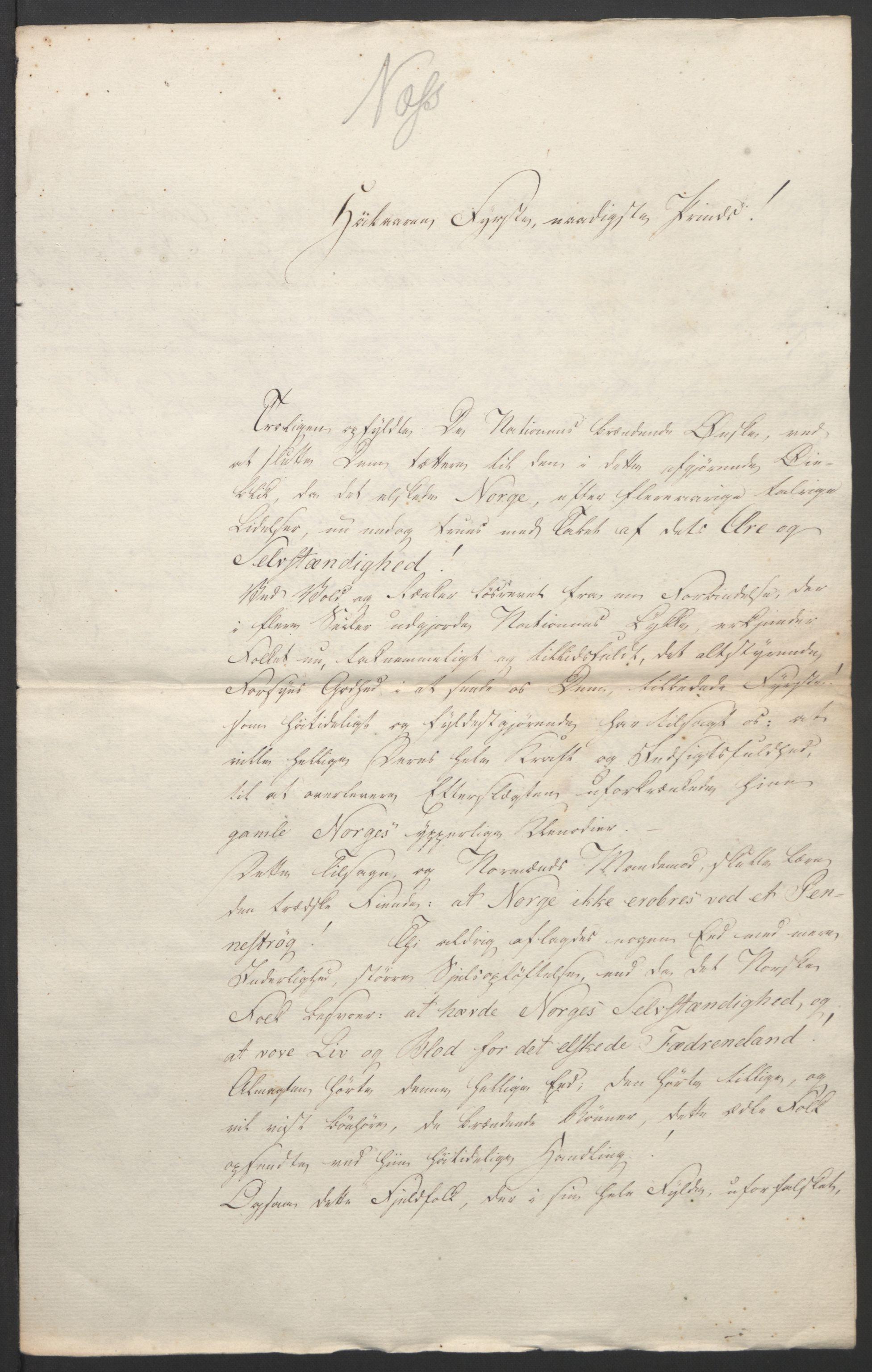 RA, Statsrådssekretariatet, D/Db/L0007: Fullmakter for Eidsvollsrepresentantene i 1814. , 1814, s. 326
