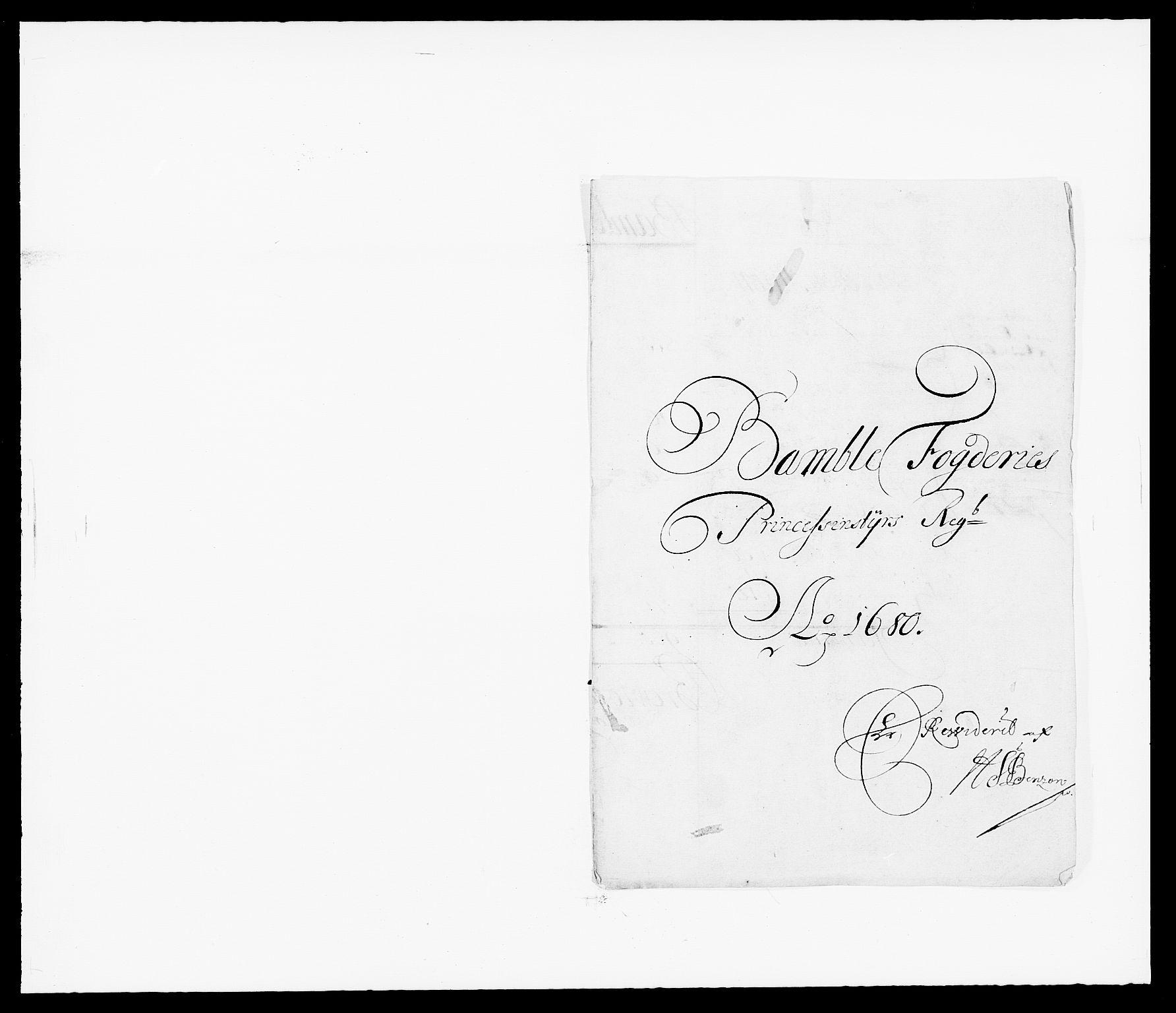 RA, Rentekammeret inntil 1814, Reviderte regnskaper, Fogderegnskap, R34/L2045: Fogderegnskap Bamble, 1680-1681, s. 184