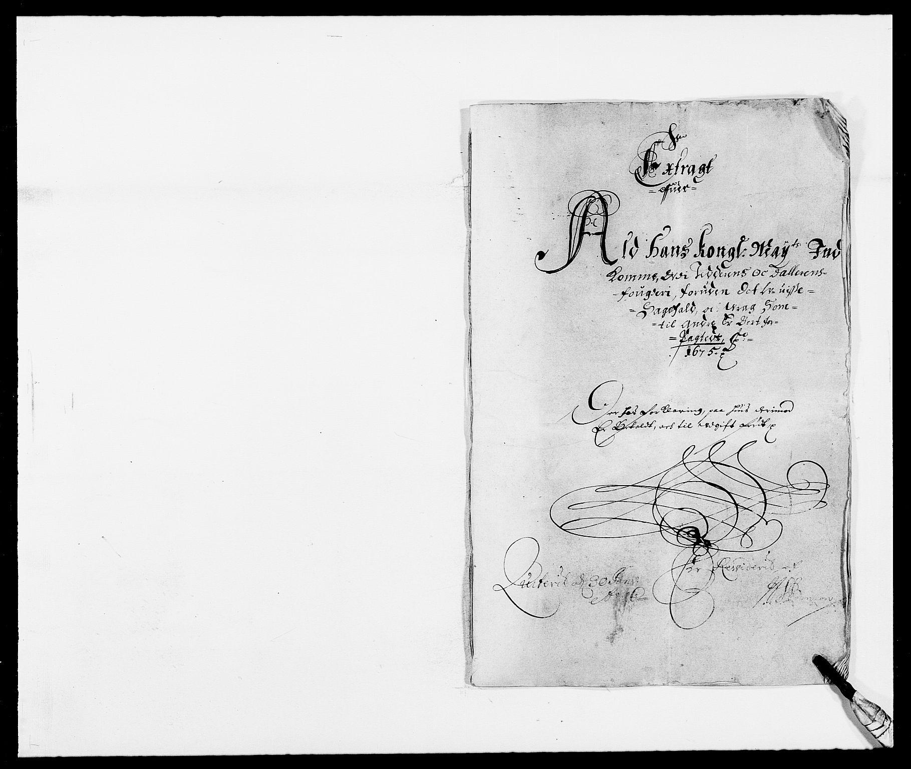RA, Rentekammeret inntil 1814, Reviderte regnskaper, Fogderegnskap, R46/L2715: Fogderegnskap Jæren og Dalane, 1675, s. 1