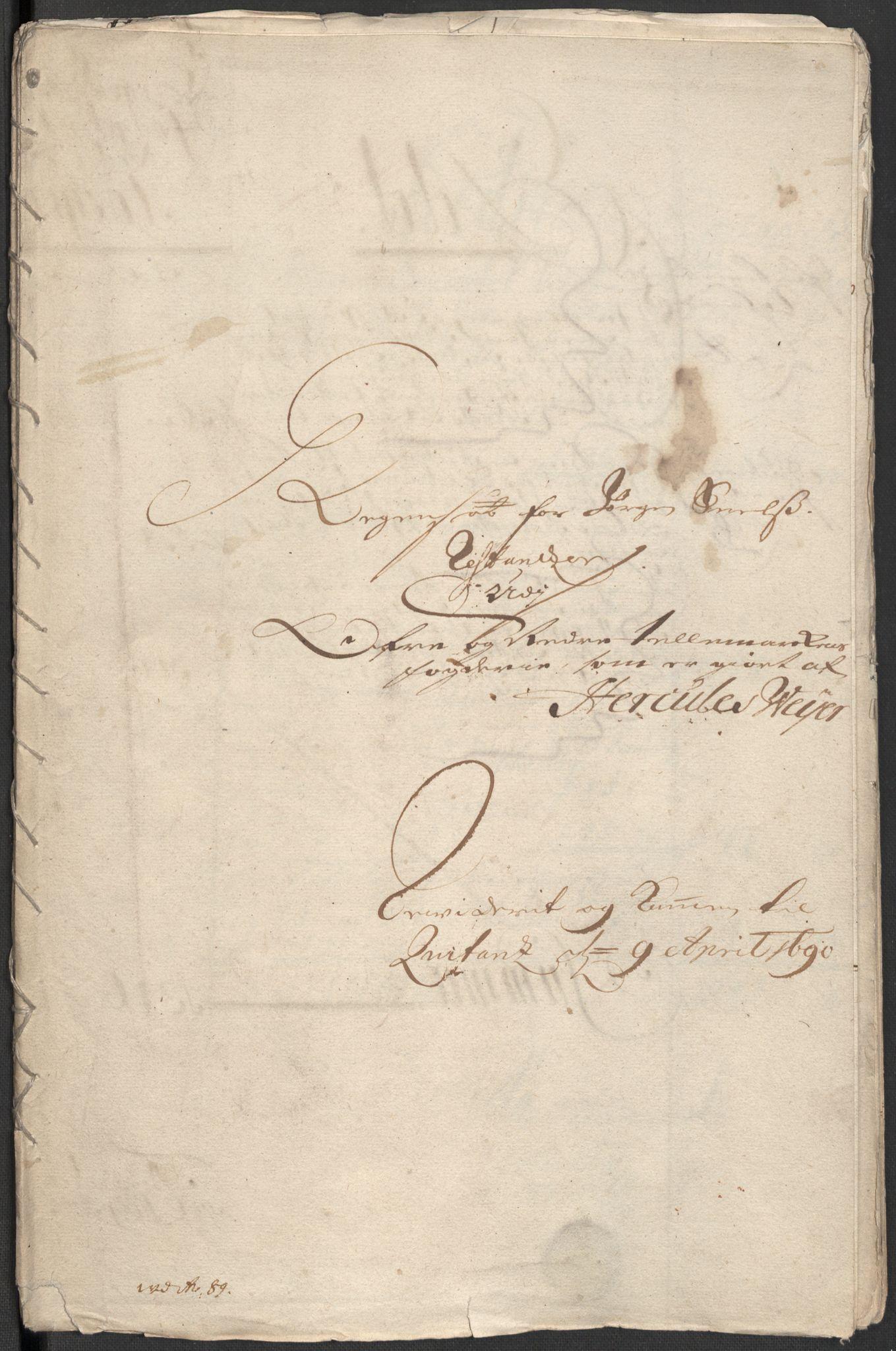 RA, Rentekammeret inntil 1814, Reviderte regnskaper, Fogderegnskap, R35/L2088: Fogderegnskap Øvre og Nedre Telemark, 1687-1689, s. 95
