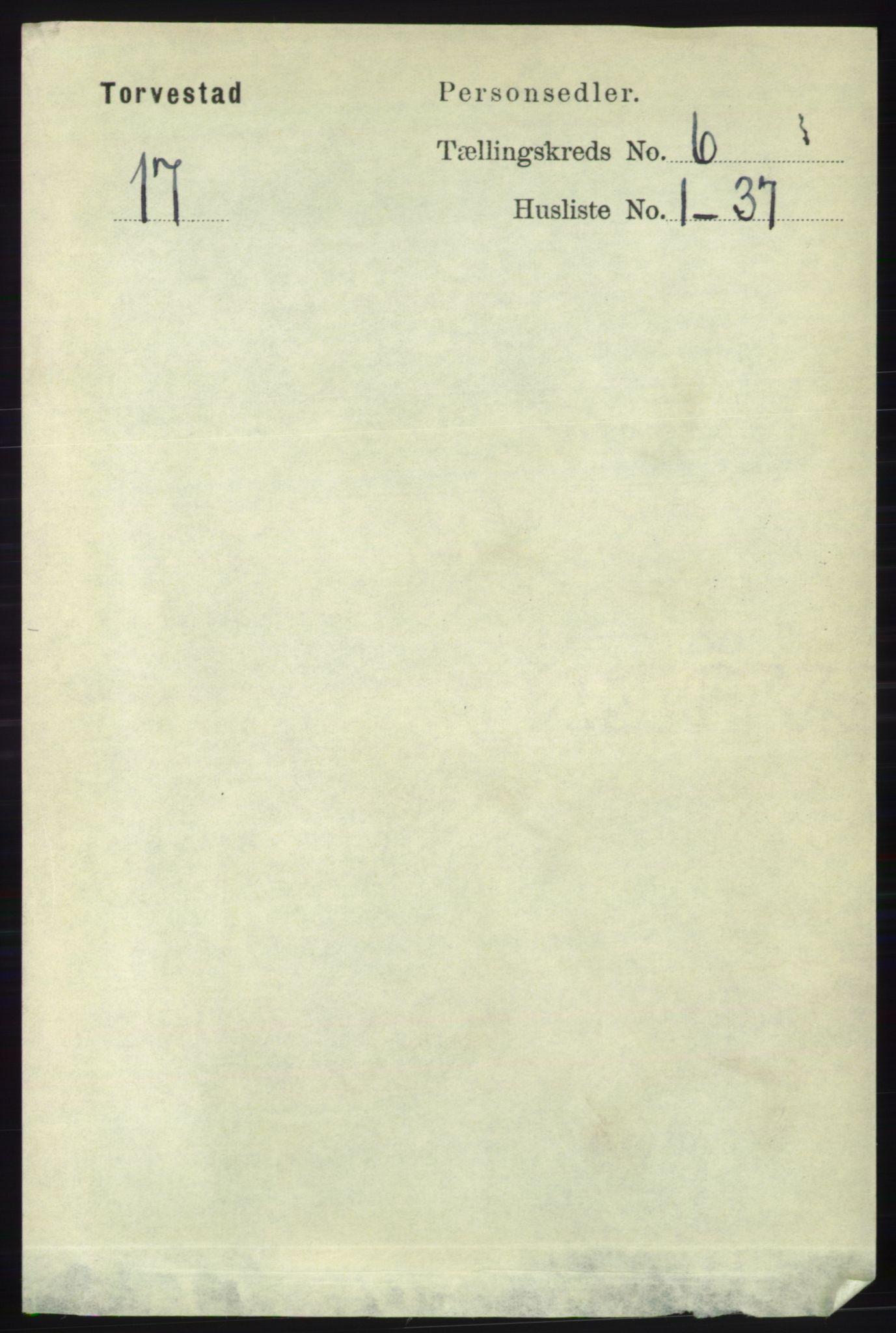RA, Folketelling 1891 for 1152 Torvastad herred, 1891, s. 1992