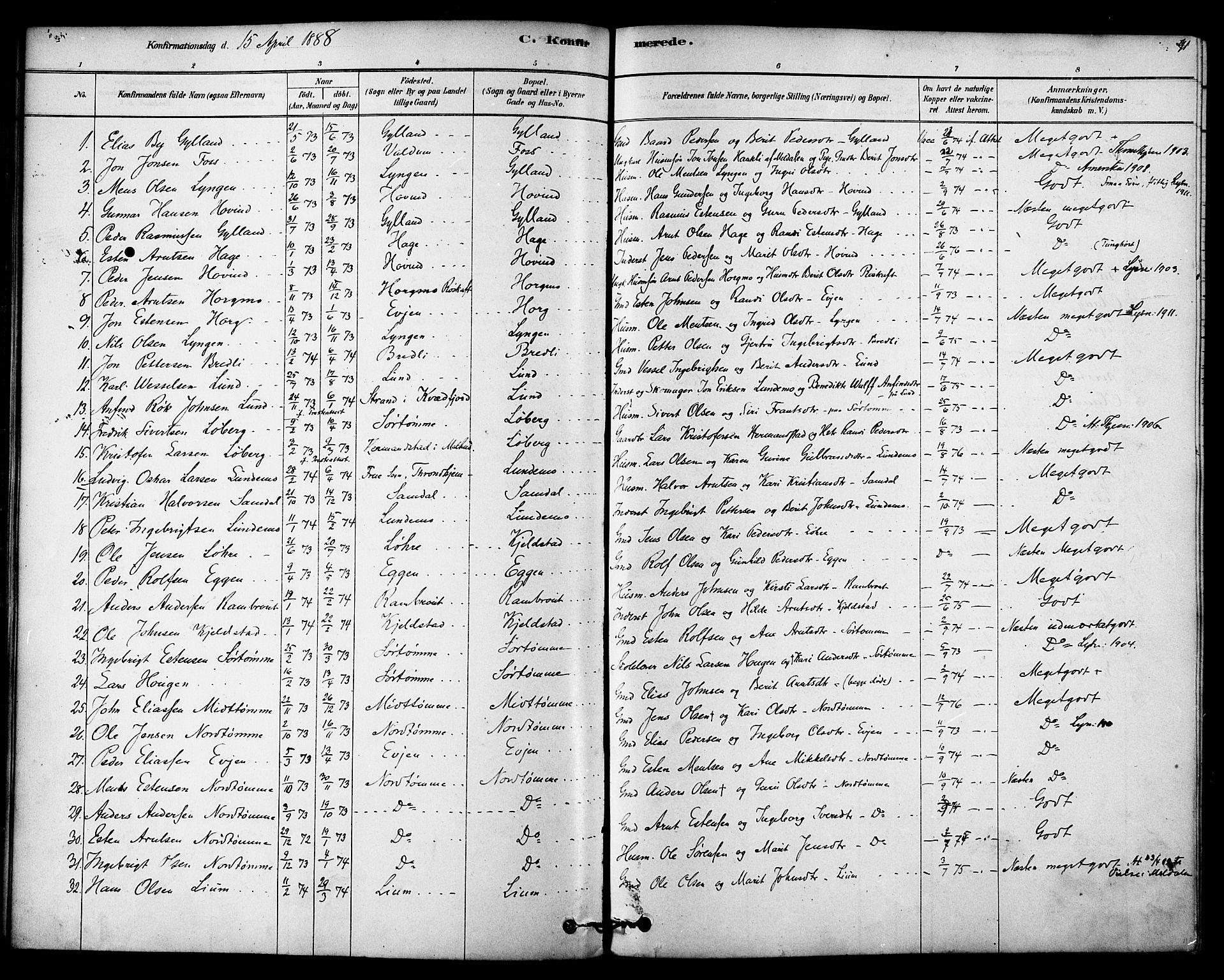 SAT, Ministerialprotokoller, klokkerbøker og fødselsregistre - Sør-Trøndelag, 692/L1105: Ministerialbok nr. 692A05, 1878-1890, s. 91