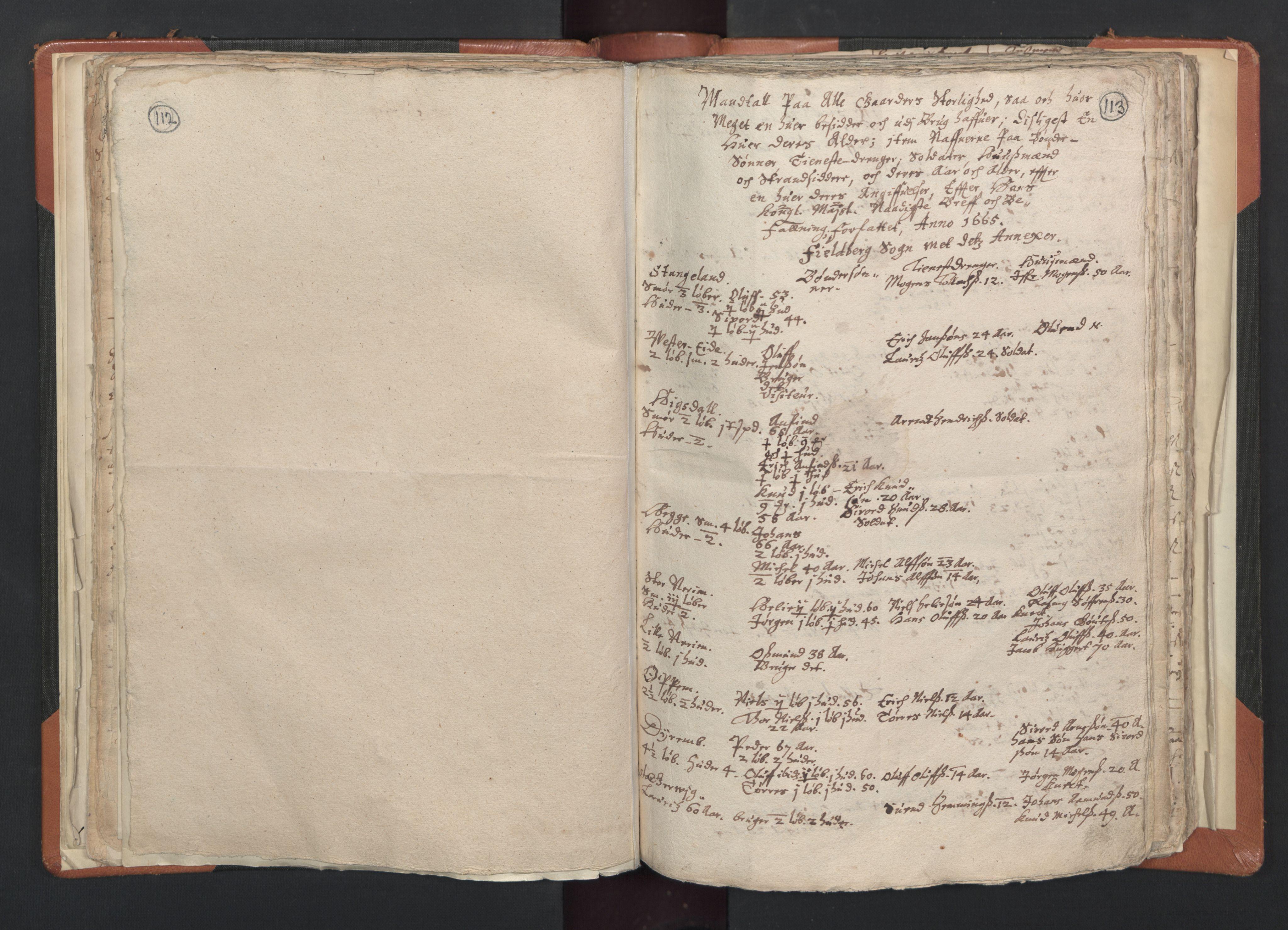 RA, Sogneprestenes manntall 1664-1666, nr. 20: Sunnhordland prosti, 1664-1666, s. 112-113